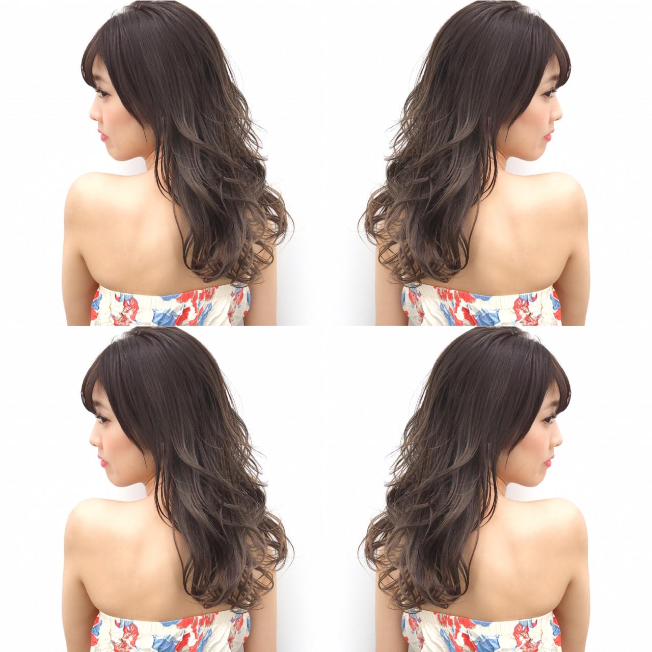 リラックス ハイライト 色気 ロング ヘアスタイルや髪型の写真・画像