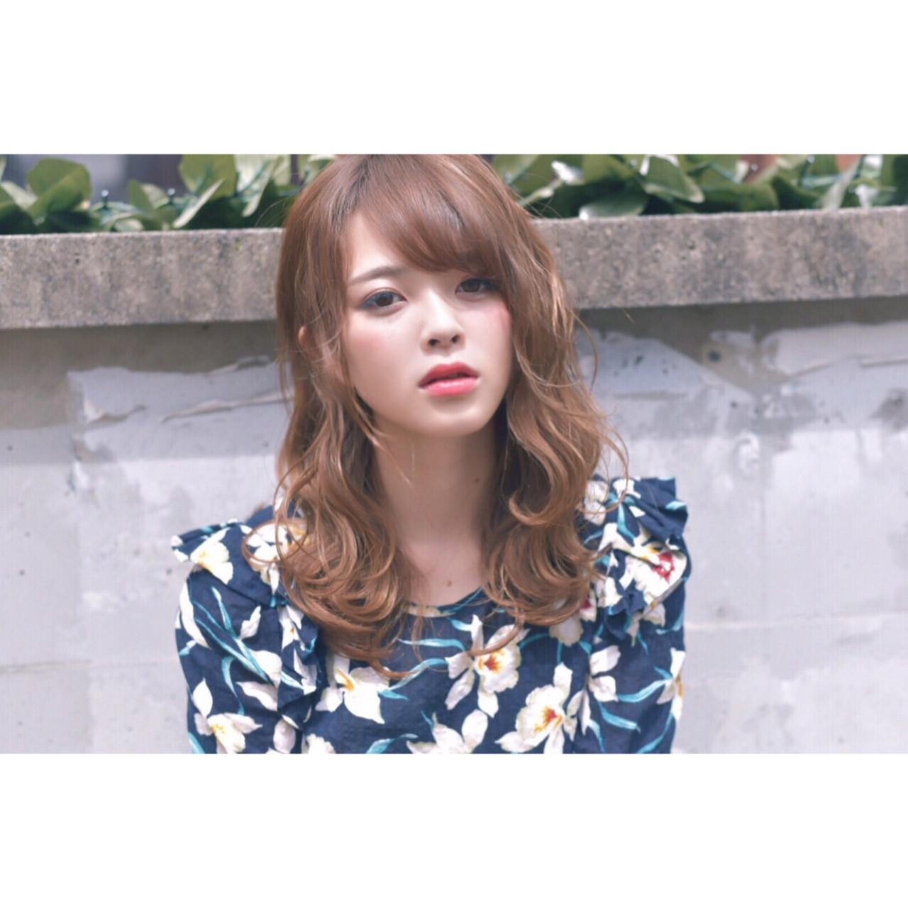外国人風 暗髪 セミロング アッシュ ヘアスタイルや髪型の写真・画像 | 愛永ちゃん、 /