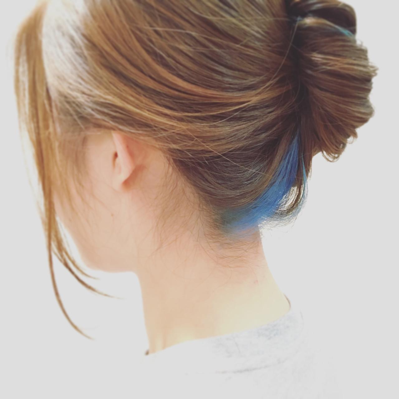 スモーキーカラー ロング ナチュラル ヘアアレンジ ヘアスタイルや髪型の写真・画像   fuji / re:s