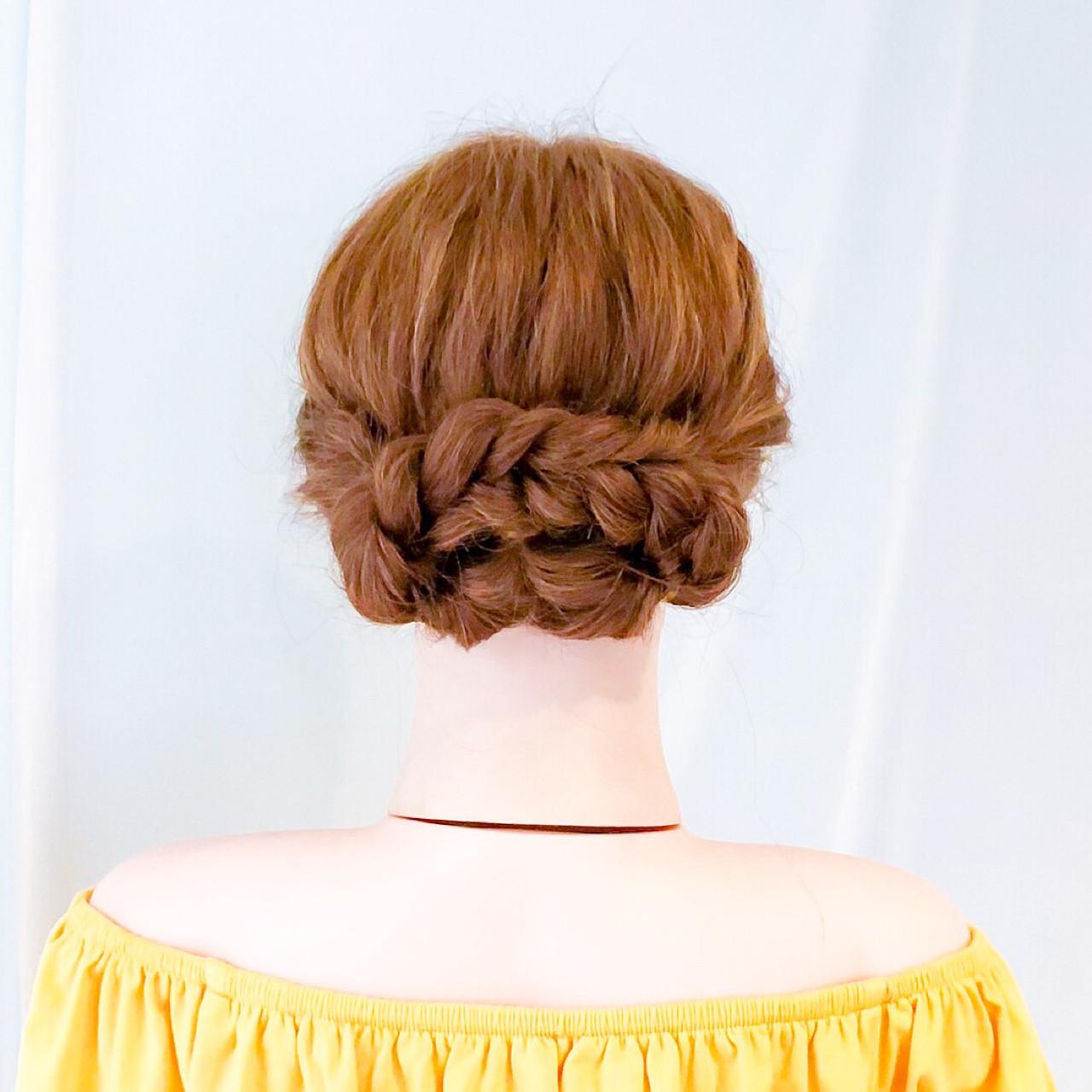 ロング フェミニン ショート ヘアアレンジ ヘアスタイルや髪型の写真・画像