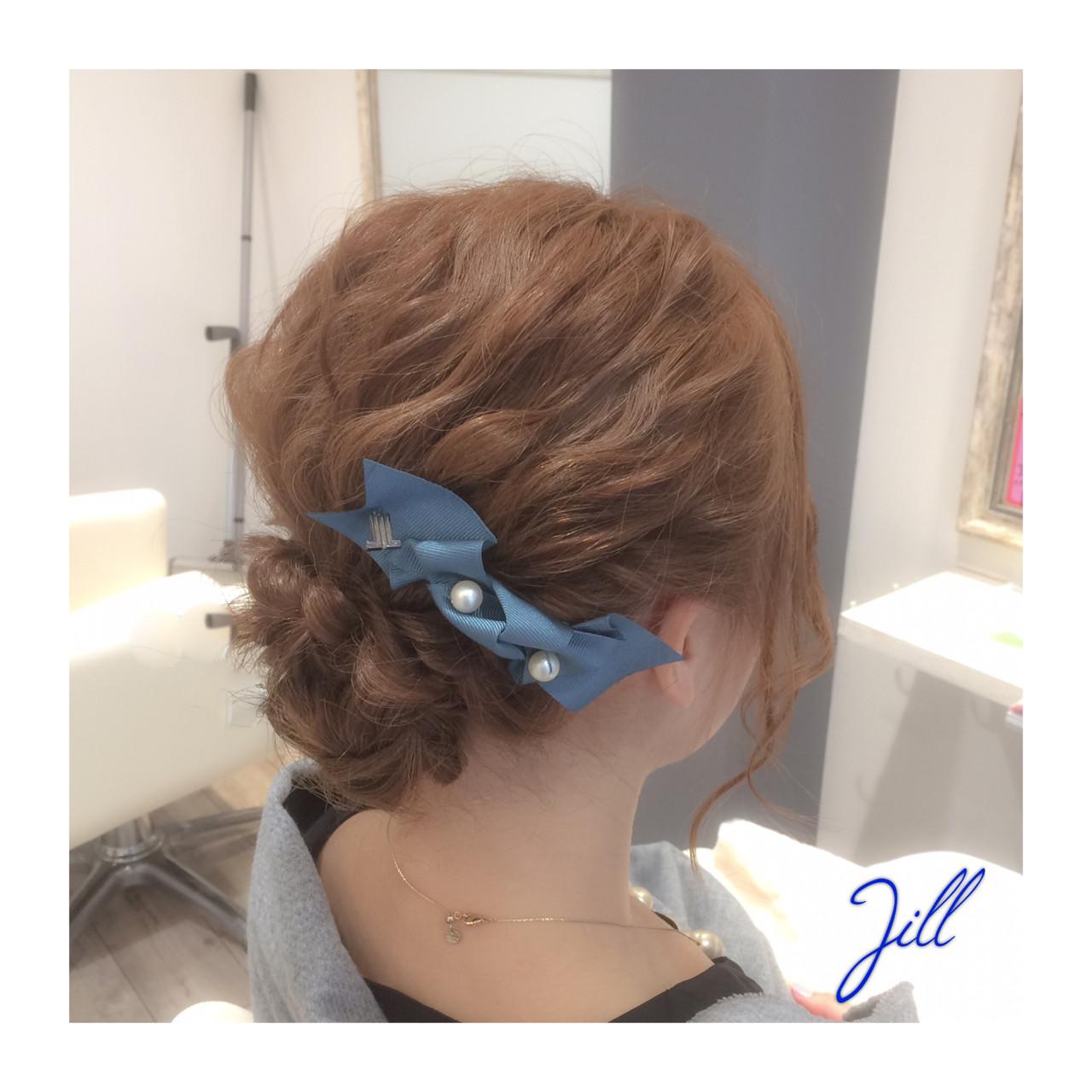 簡単ヘアアレンジ ヘアアレンジ ボブ ヘアアクセ ヘアスタイルや髪型の写真・画像