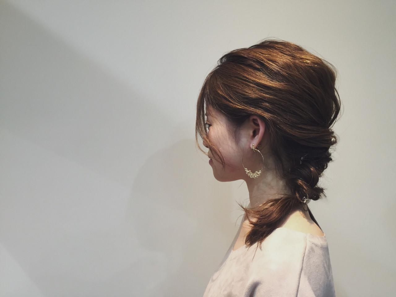 大人女子 ヘアアレンジ アンニュイ セミロング ヘアスタイルや髪型の写真・画像