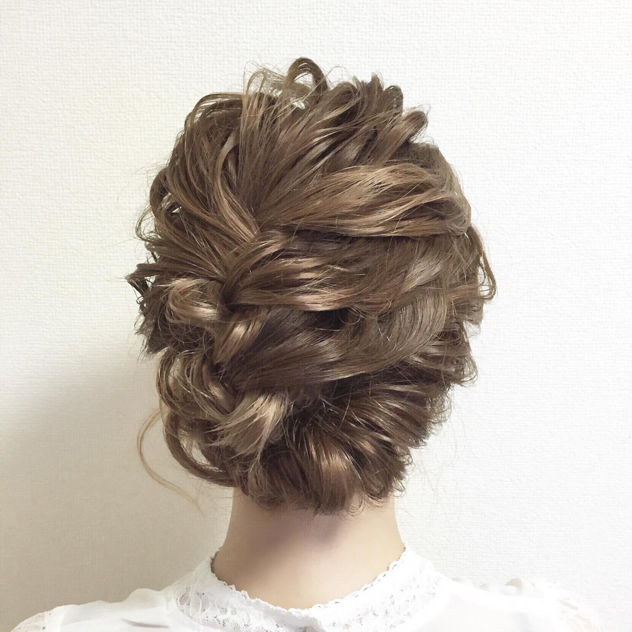 結婚式 ミディアム パーティ ヘアアレンジ ヘアスタイルや髪型の写真・画像 | chiaki / magnet hair