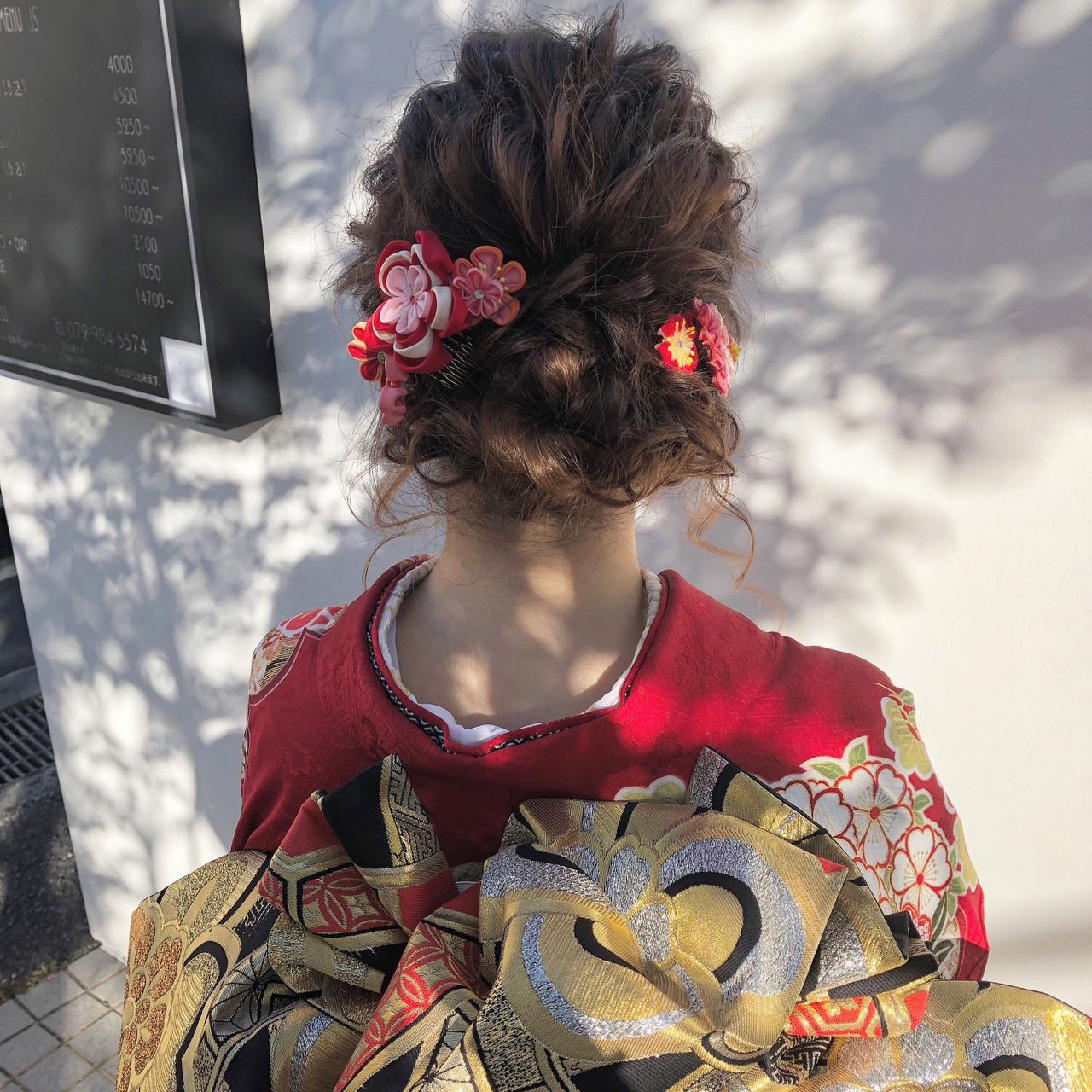 簡単ヘアアレンジ ガーリー ロング 結婚式 ヘアスタイルや髪型の写真・画像