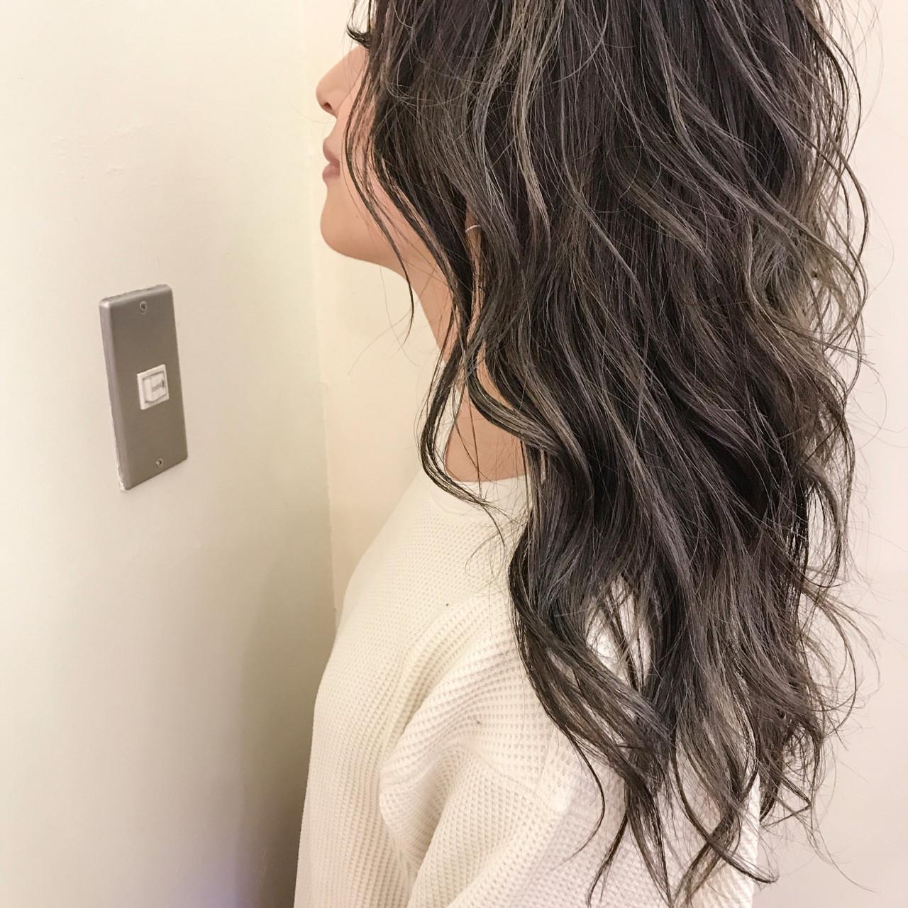 セミロング ナチュラル 冬 ゆるふわ ヘアスタイルや髪型の写真・画像