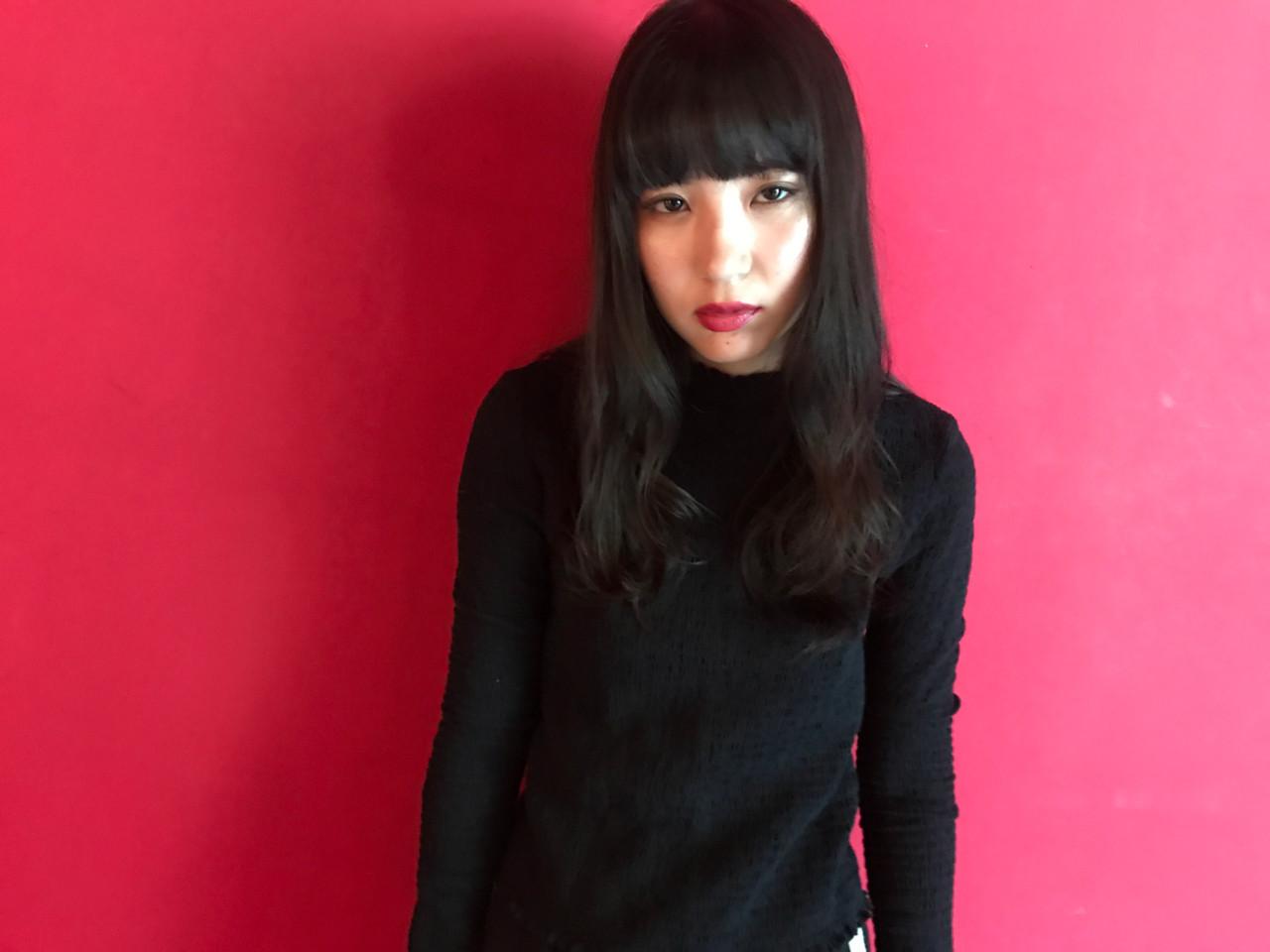 セミロング 黒髪 ロング モード ヘアスタイルや髪型の写真・画像