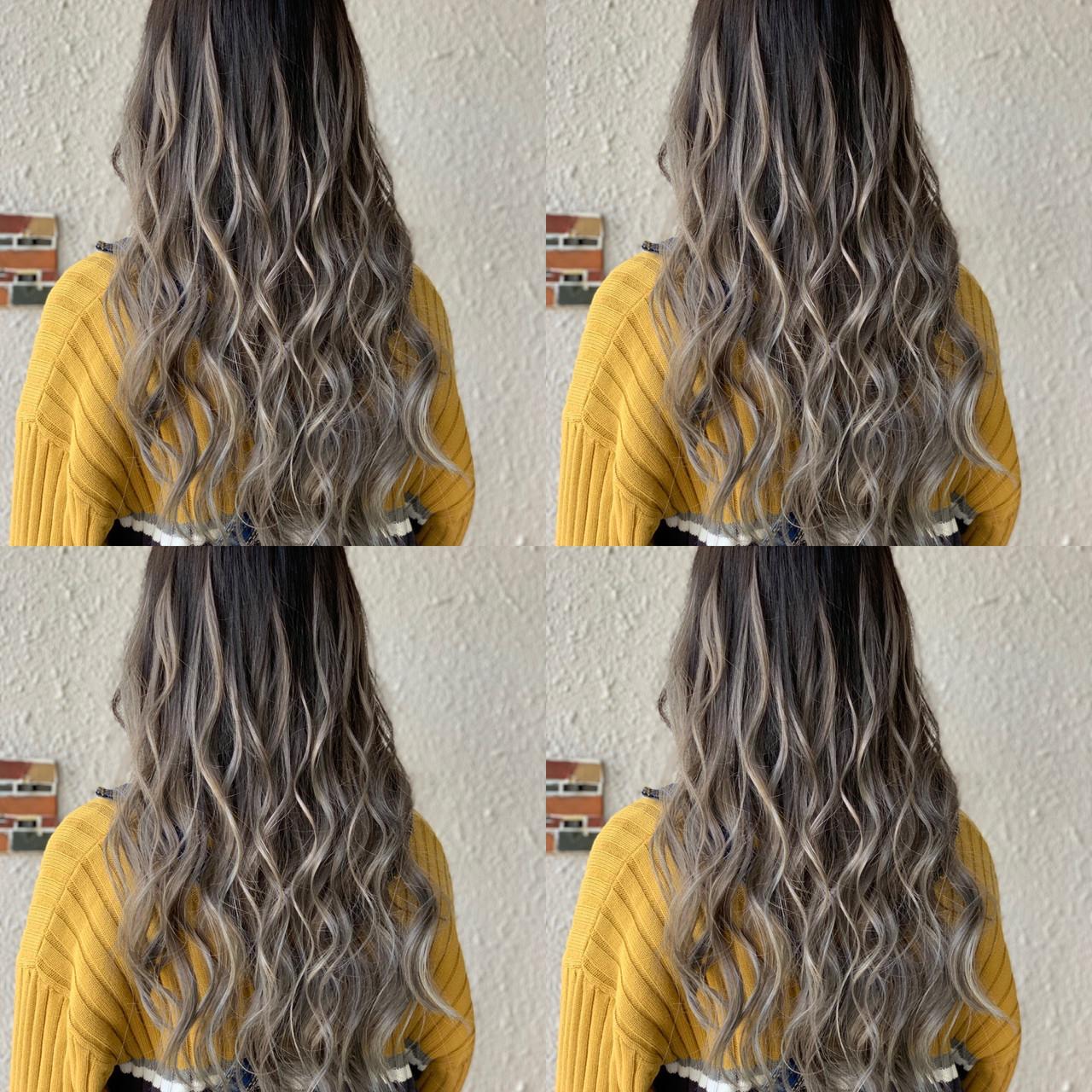 エクステ ロング グラデーションカラー 外国人風カラー ヘアスタイルや髪型の写真・画像 | 島川令 / エクステ専門店R