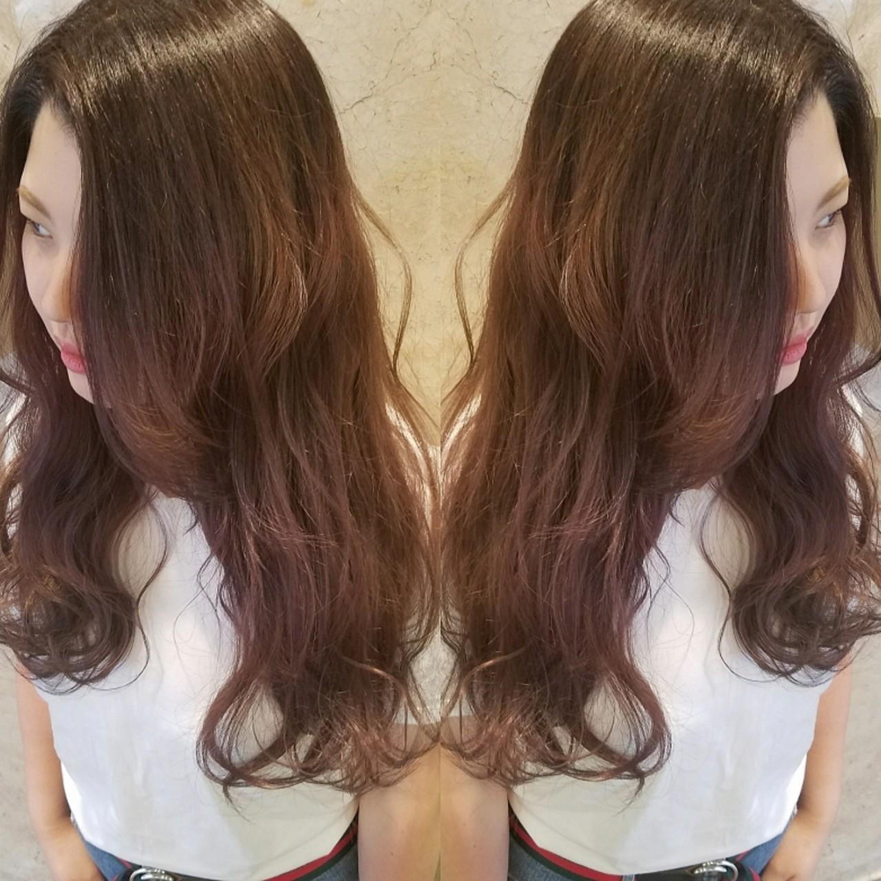 ミディアム グラデーションカラー ストリート ダブルカラー ヘアスタイルや髪型の写真・画像