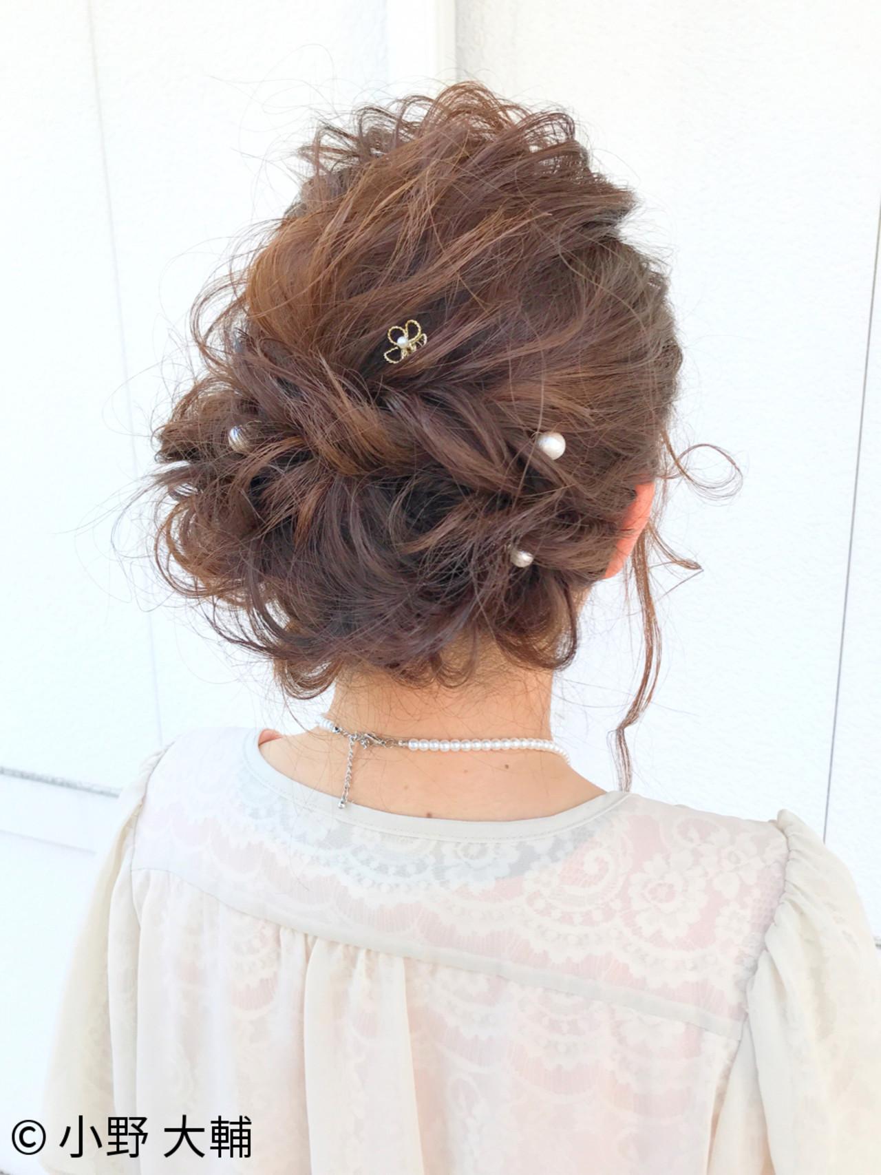 ナチュラル 結婚式 ヘアアレンジ パーティ ヘアスタイルや髪型の写真・画像