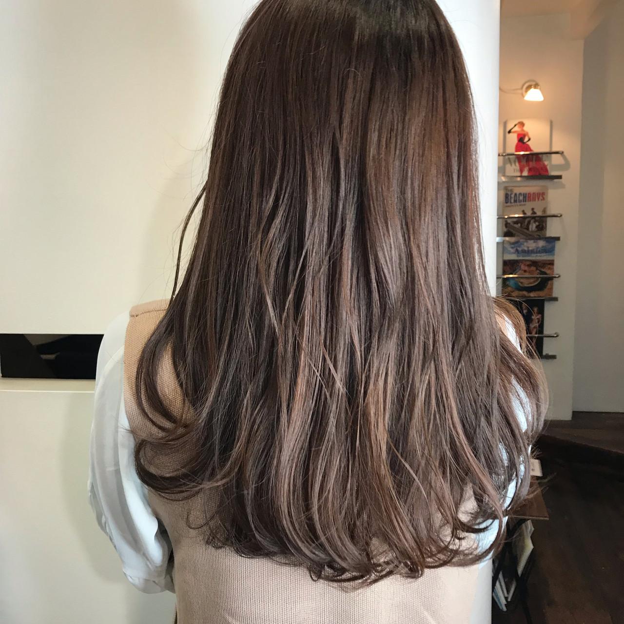 透明感カラー ナチュラル 360度どこからみても綺麗なロングヘア ロング ヘアスタイルや髪型の写真・画像 | 餅しほり / ing / ing