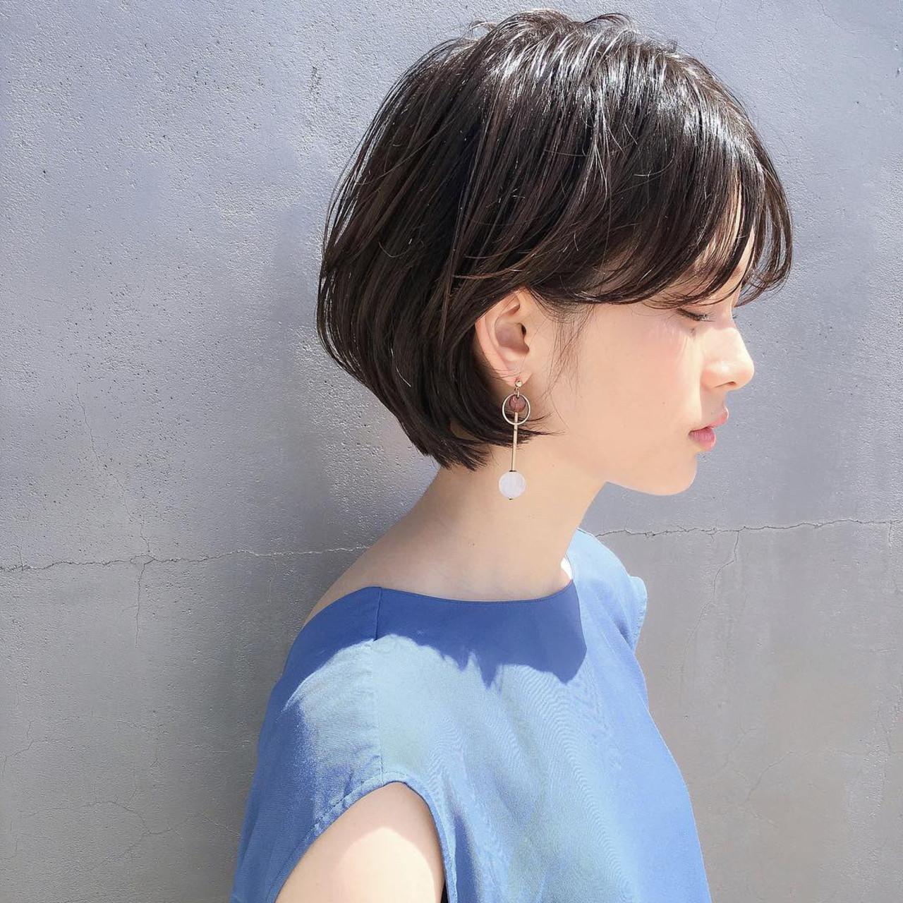 アンニュイほつれヘア ショート ナチュラル スポーツ ヘアスタイルや髪型の写真・画像