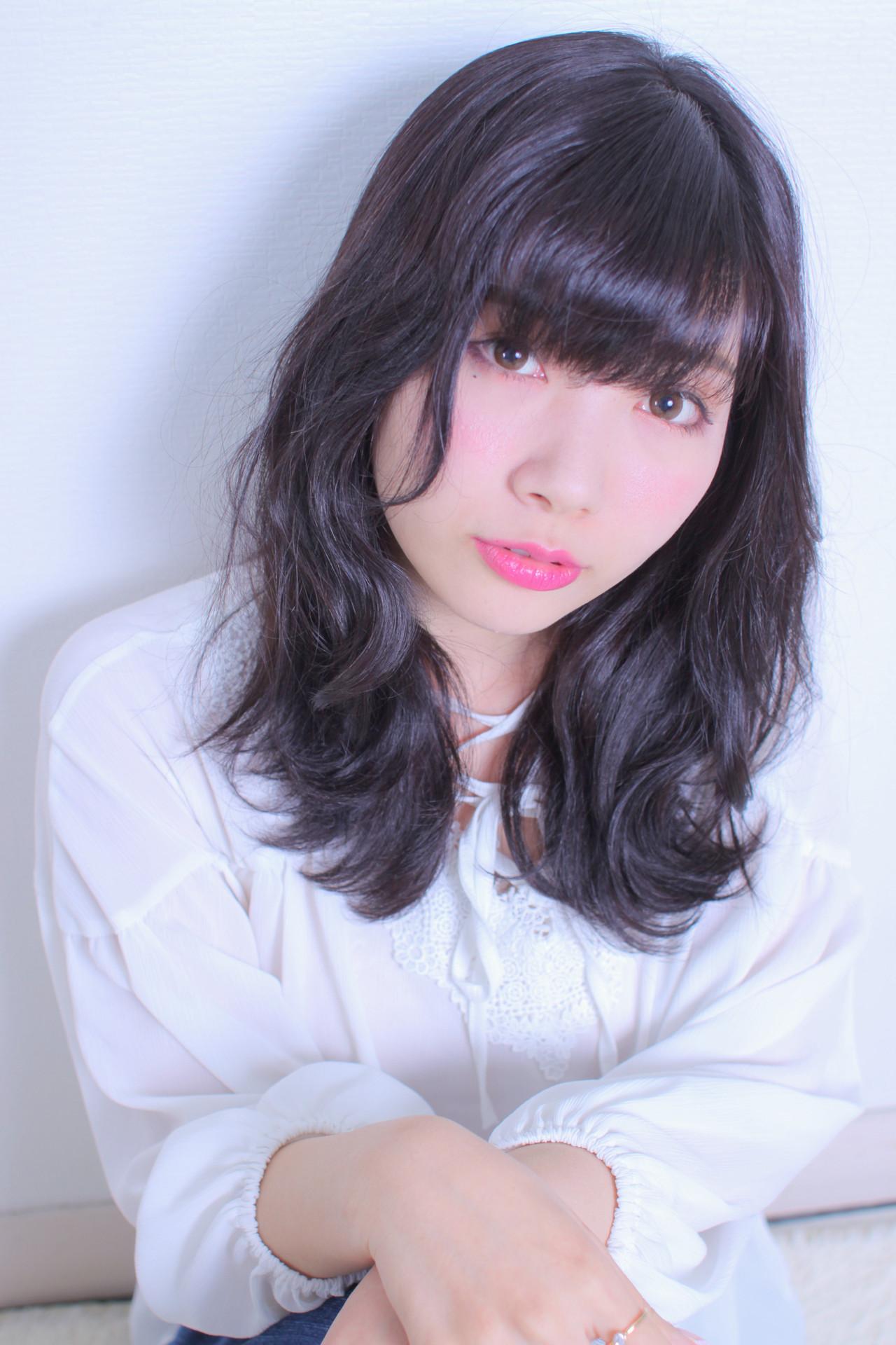 アンニュイほつれヘア モテ髪 ロング 撮影 ヘアスタイルや髪型の写真・画像