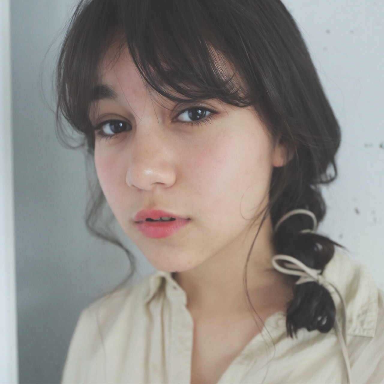 アンニュイ 黒髪 ナチュラル パーマ ヘアスタイルや髪型の写真・画像