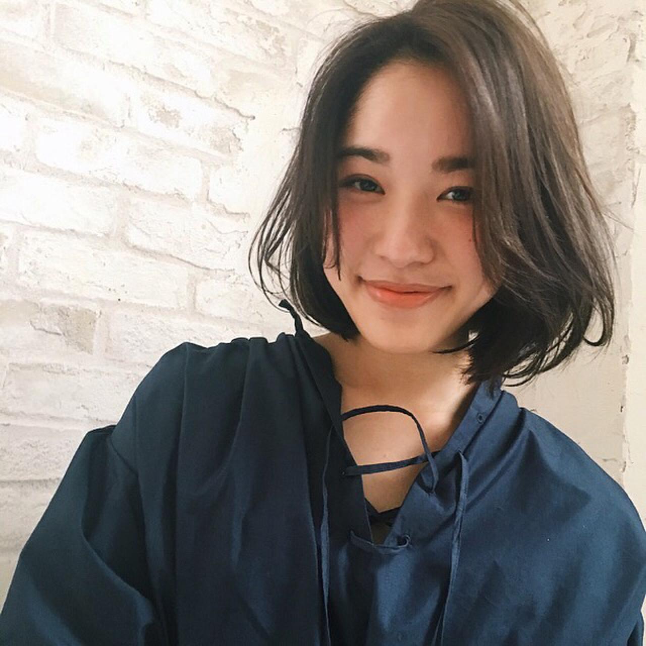 こなれ感 小顔 ミルクティー ナチュラル ヘアスタイルや髪型の写真・画像 | joemi 大久保 瞳 / Joemi by Un ami(ジョエミ バイ アンアミ)