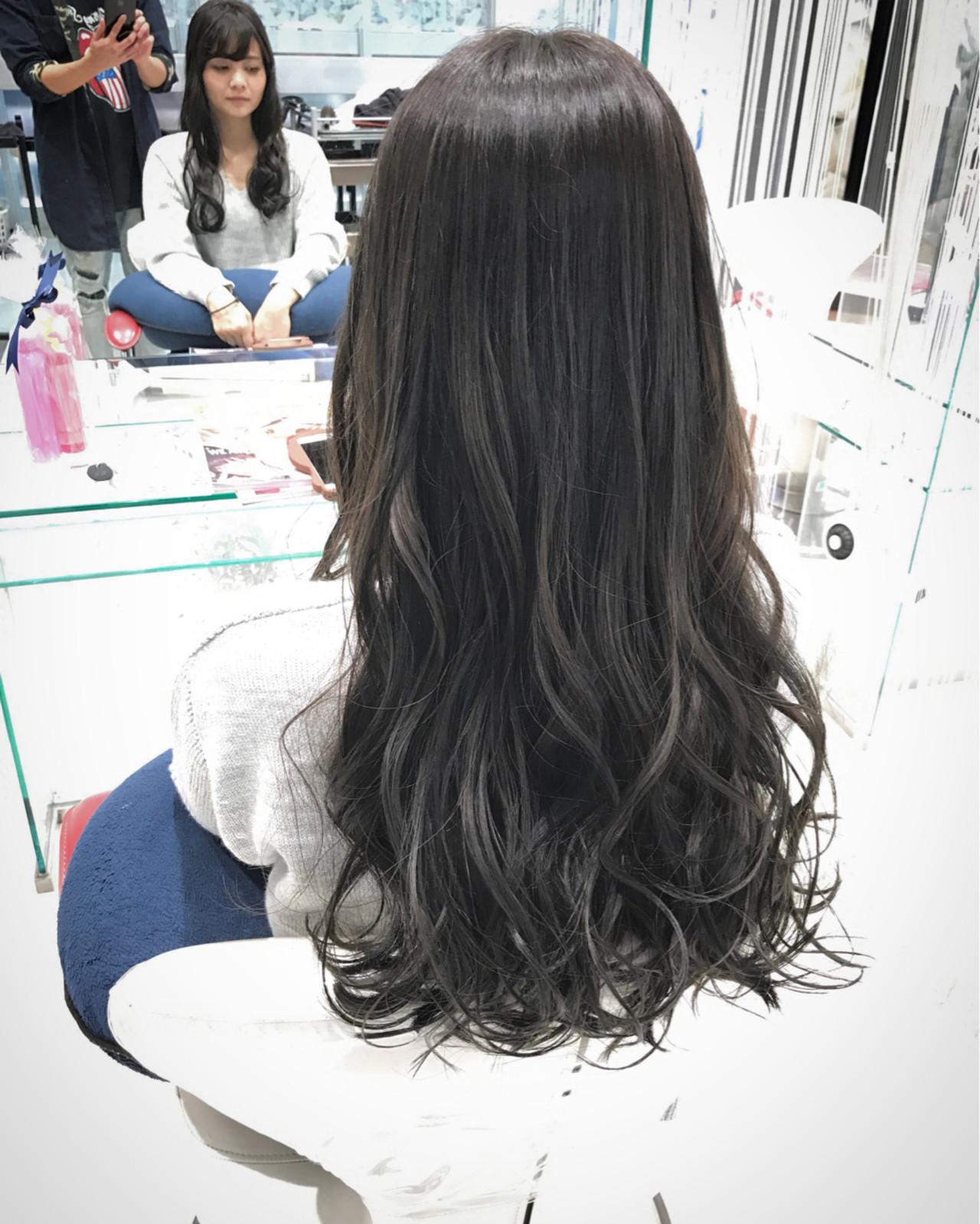 フェミニン ロング エアリー ニュアンス ヘアスタイルや髪型の写真・画像