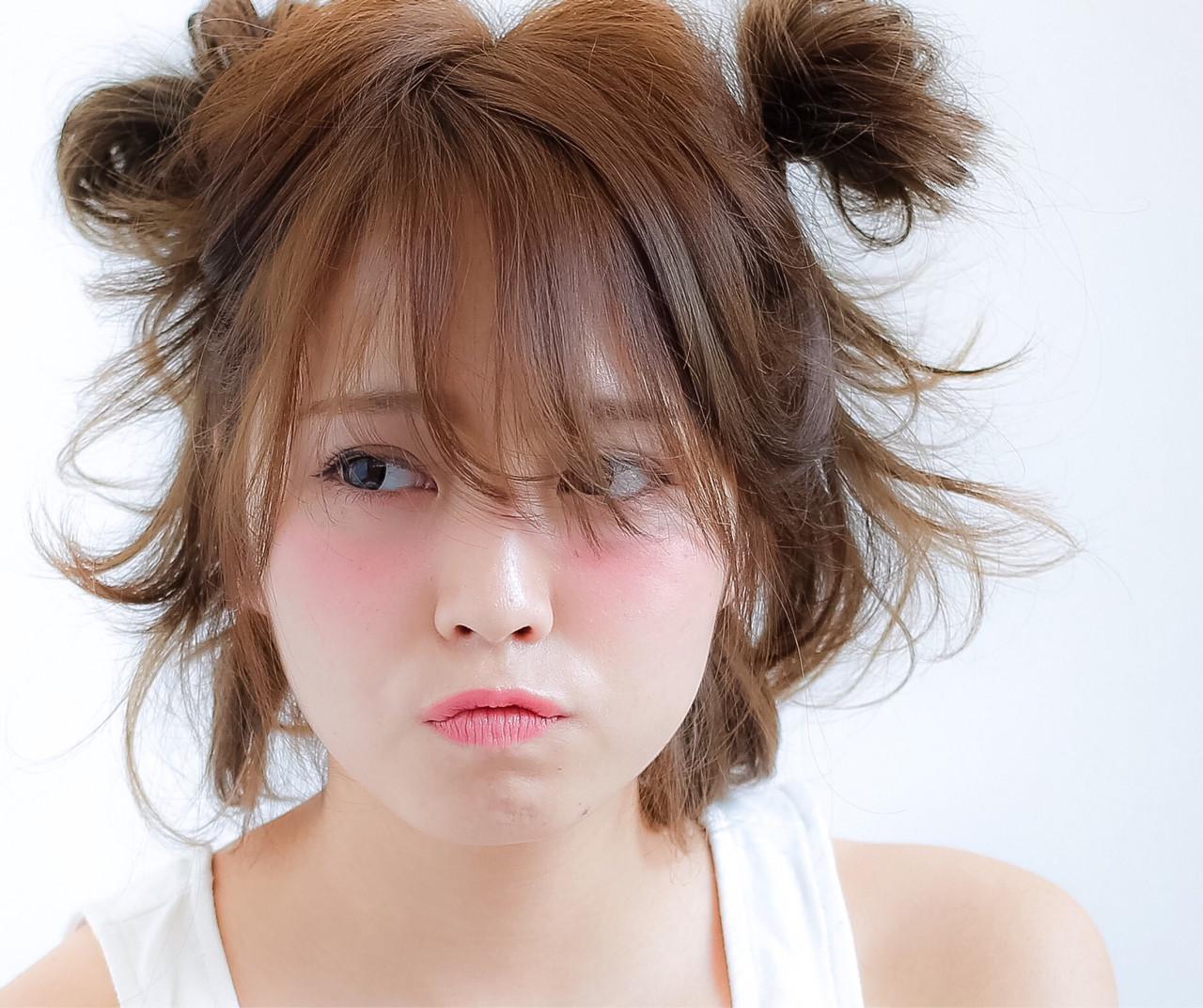 ピュア ヘアアレンジ ミディアム フェミニン ヘアスタイルや髪型の写真・画像