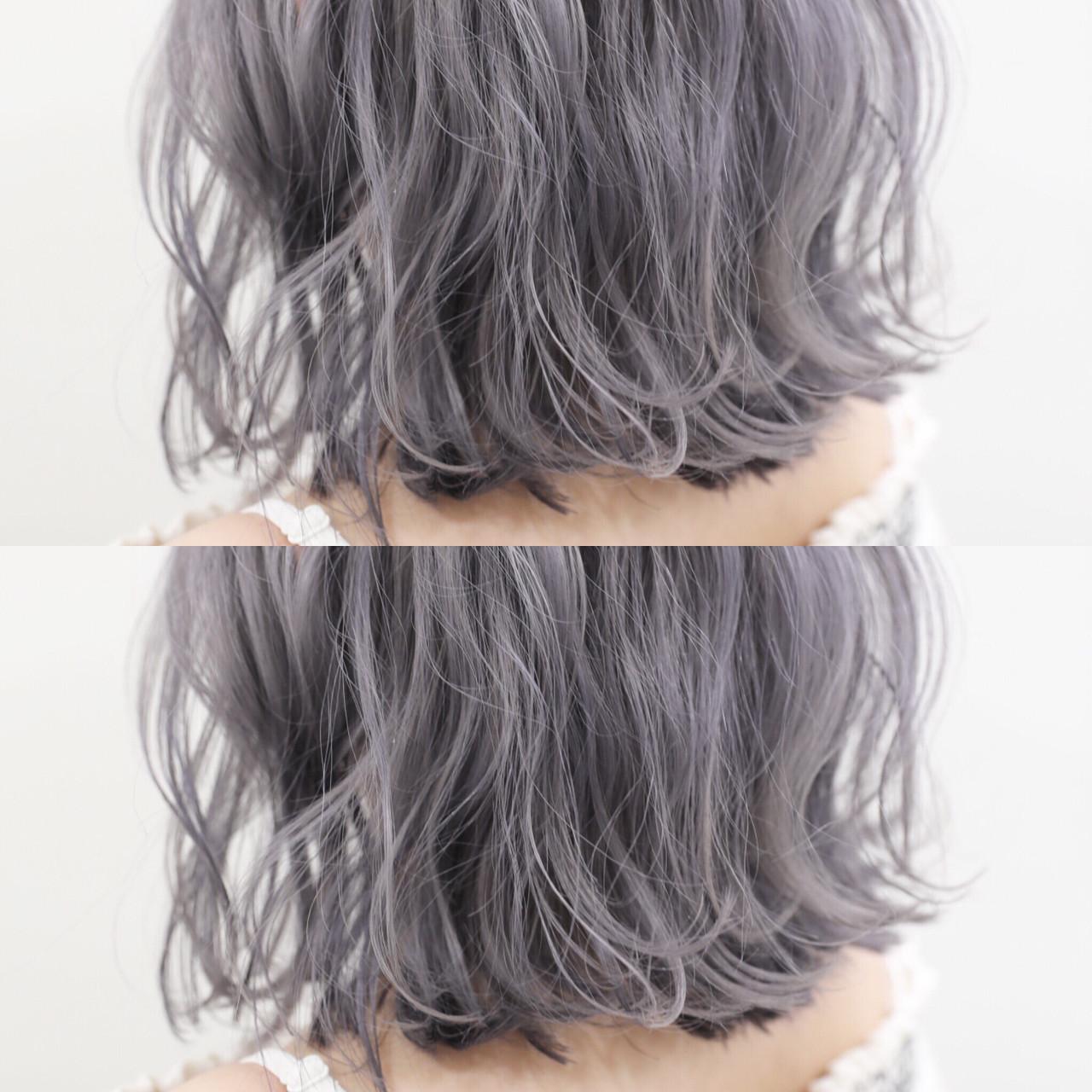モード ボブ シルバーアッシュ ホワイトアッシュ ヘアスタイルや髪型の写真・画像 | 蒔山知洋 / blue faces 表参道 (ブルーフェーセス)