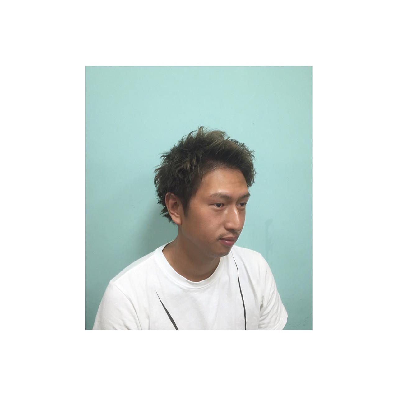 パーマ ストリート メンズ 外国人風 ヘアスタイルや髪型の写真・画像