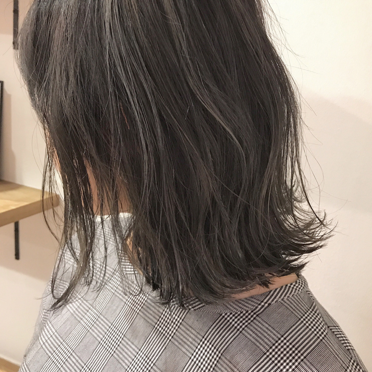 ロブ ナチュラル 秋 透明感 ヘアスタイルや髪型の写真・画像