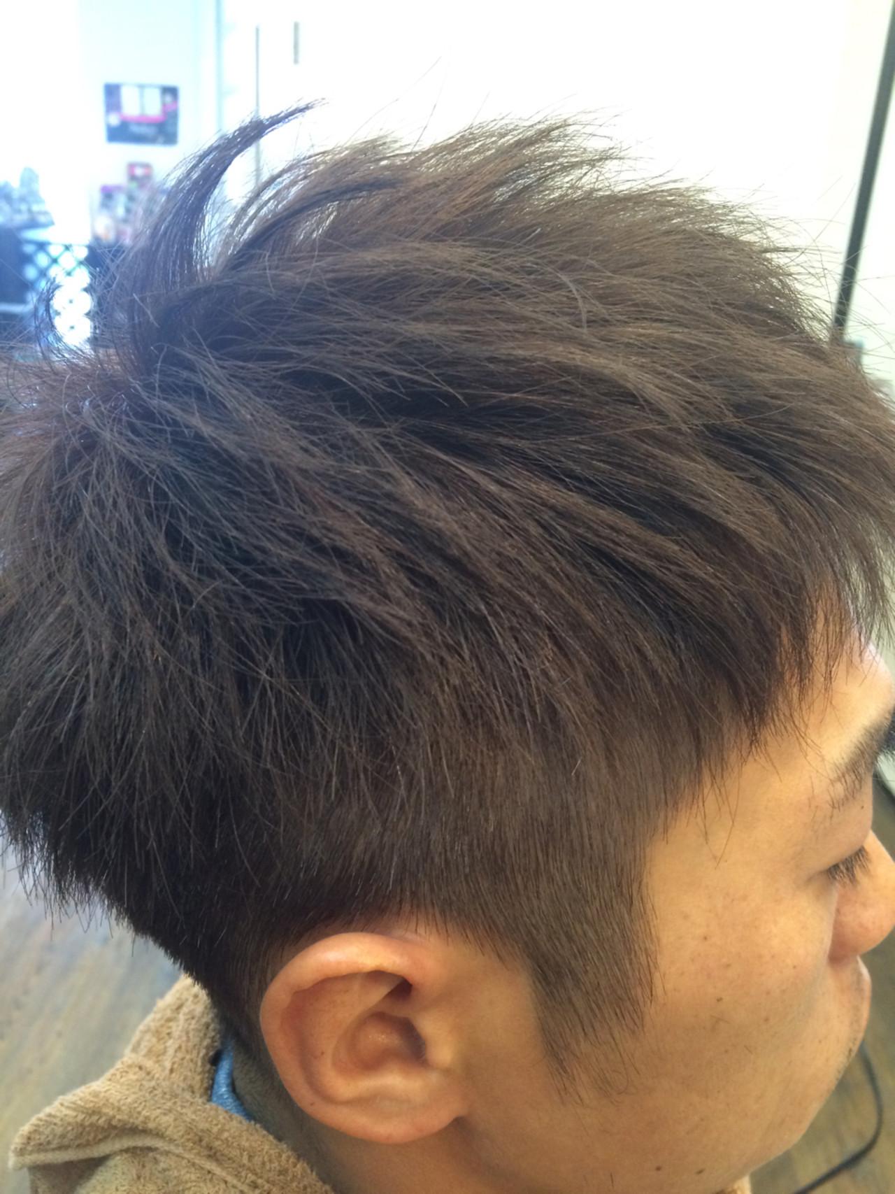 モード アッシュグレージュ ストリート ショート ヘアスタイルや髪型の写真・画像