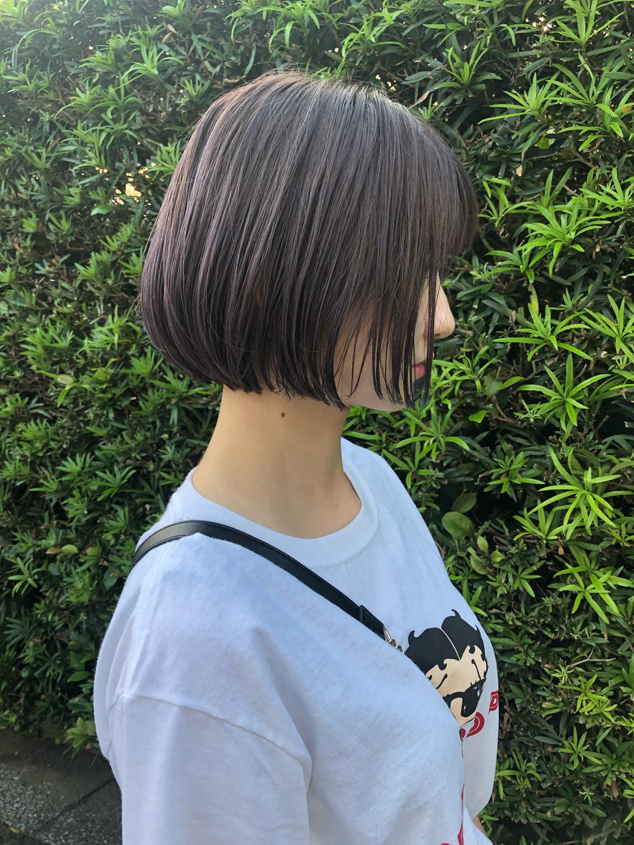 ショートヘア ミニボブ ボブ 切りっぱなしボブ ヘアスタイルや髪型の写真・画像 | 岩切 祐樹 / hair make No.8
