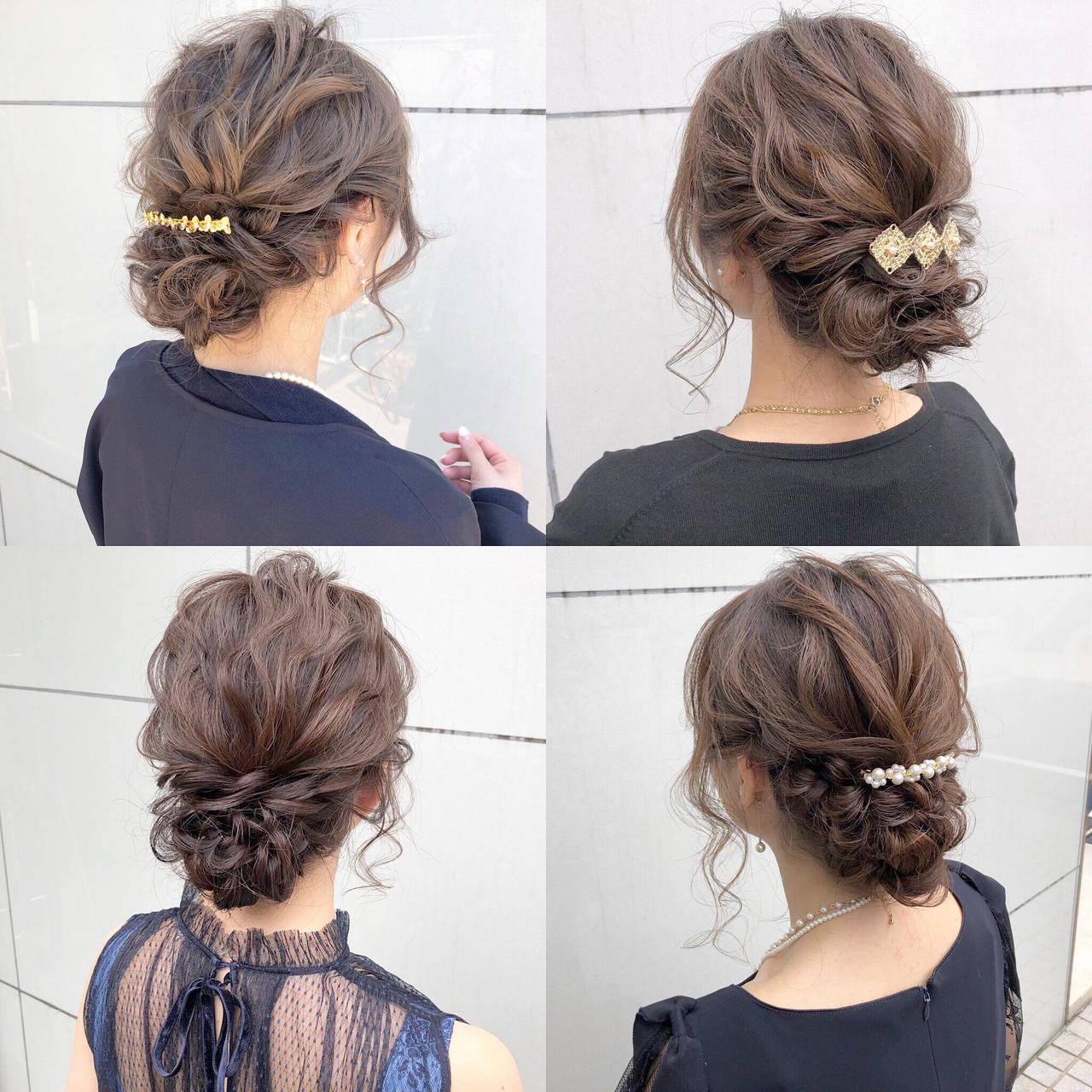 結婚式 ヘアアレンジ ロング オフィス ヘアスタイルや髪型の写真・画像