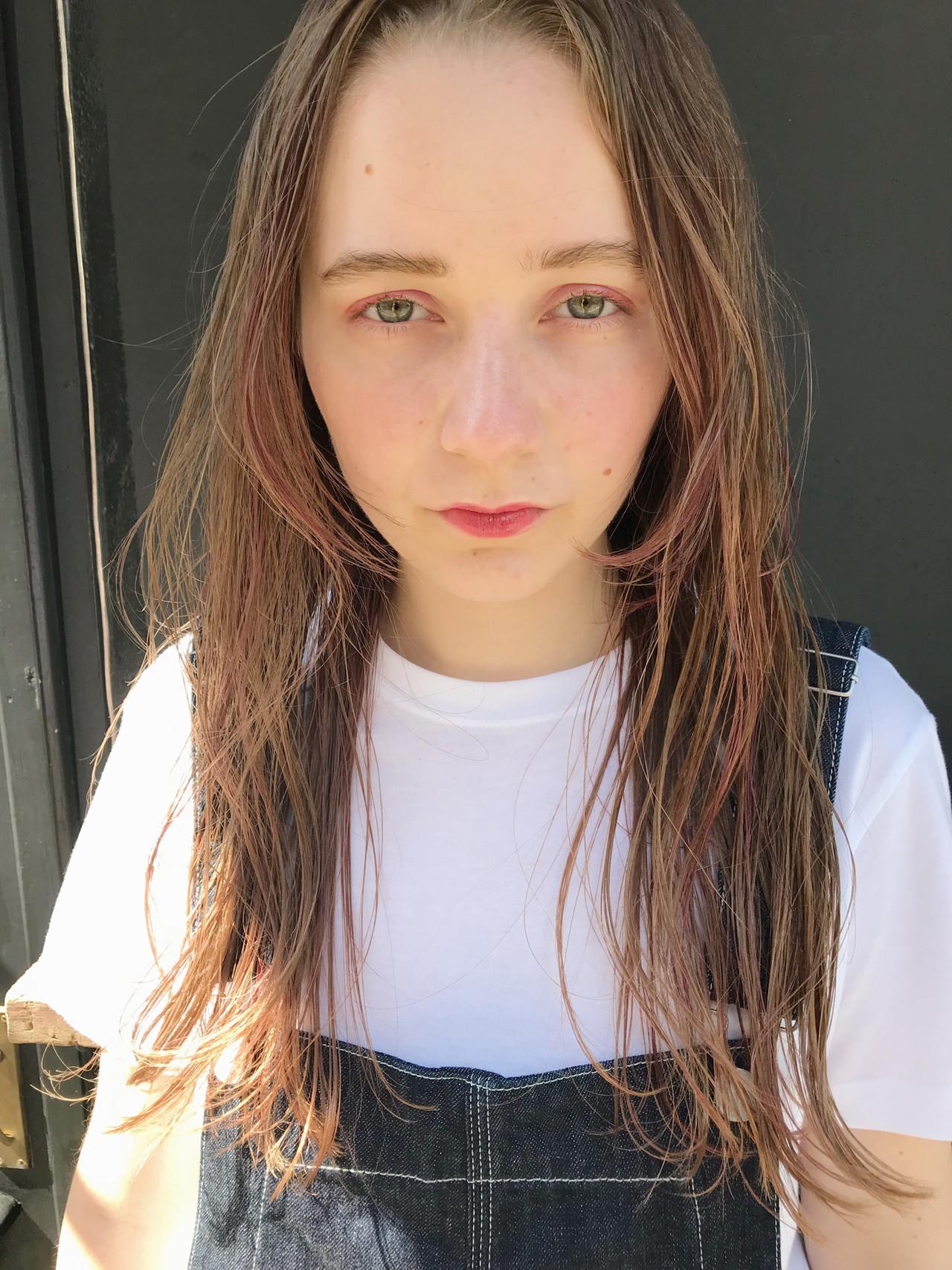パーマ デート ハイライト ポイントカラー ヘアスタイルや髪型の写真・画像 | 小西敬二郎 / Heartim