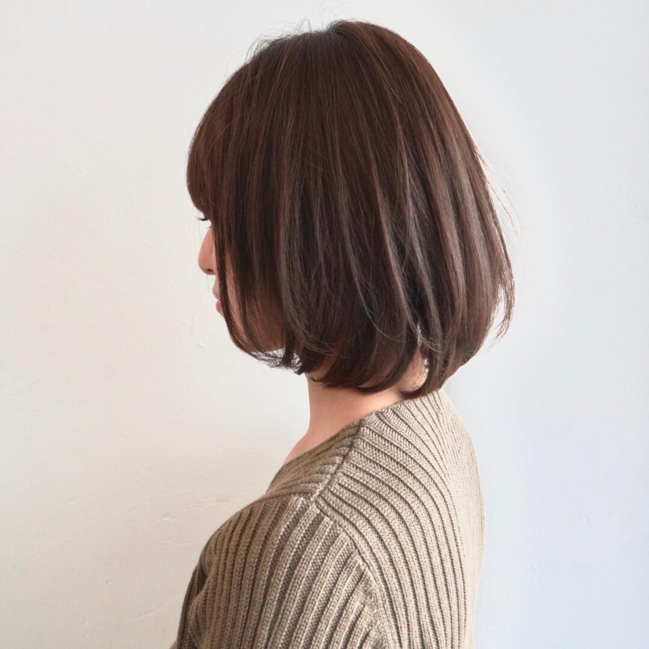 アンニュイほつれヘア ナチュラル ボブ デート ヘアスタイルや髪型の写真・画像 | お洒落ショート とかじしょうた GARDEN / NEUTRAL by GARDEN