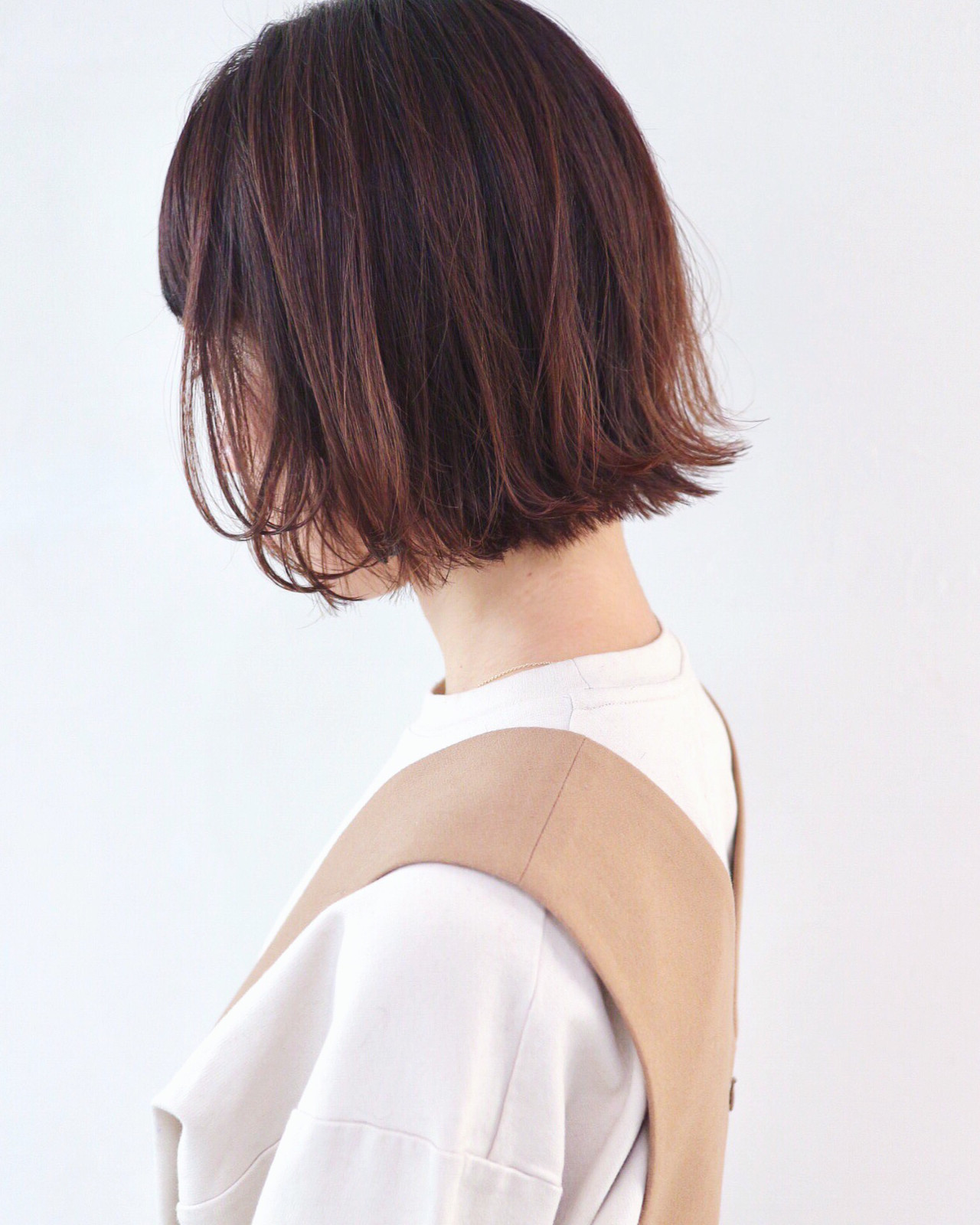 ミニボブ グラデーションカラー デート 外ハネボブ ヘアスタイルや髪型の写真・画像 | 三好 佳奈美 / Baco.(バコ)