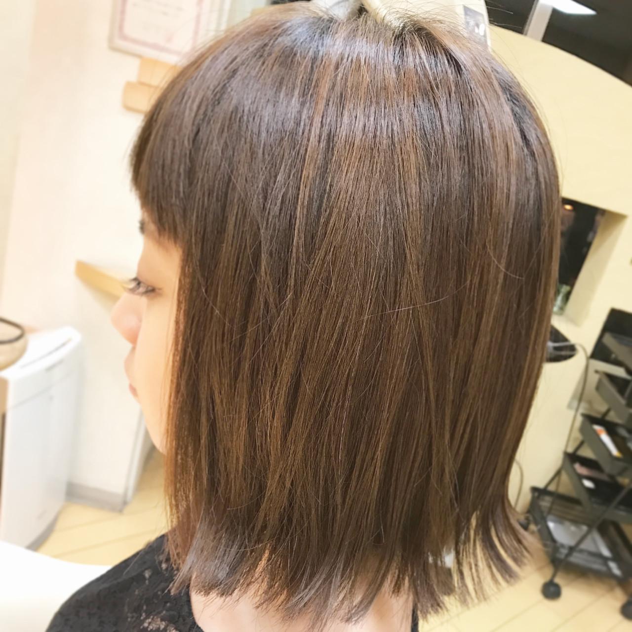 ブルーアッシュ 秋 ナチュラル ボブ ヘアスタイルや髪型の写真・画像