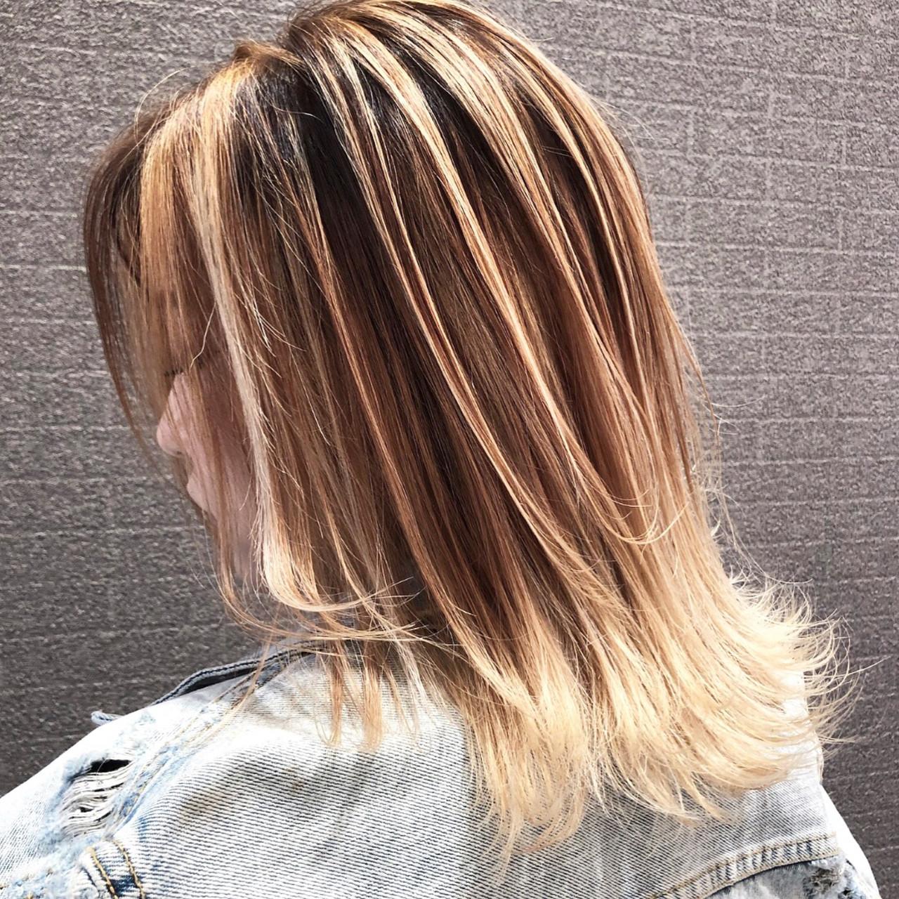 外国人風カラー 外国人風 ストリート バレイヤージュ ヘアスタイルや髪型の写真・画像