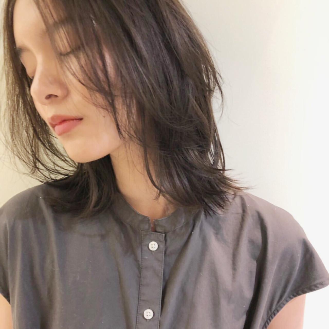 大人かわいい ガーリー ミディアム ゆるふわ ヘアスタイルや髪型の写真・画像
