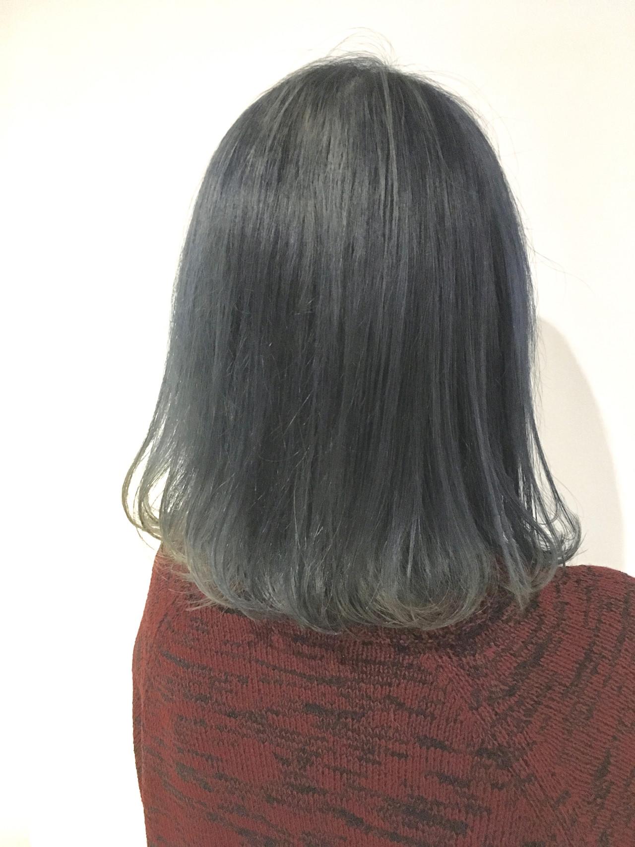 ボブ モテ髪 グレージュ 透明感カラー ヘアスタイルや髪型の写真・画像 | 村上 駿 / FRAMES hair design