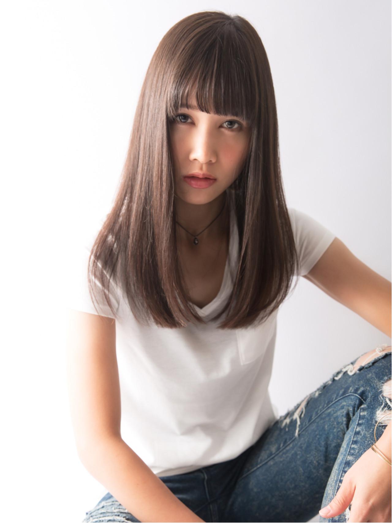色気 ストレート ナチュラル 艶髪 ヘアスタイルや髪型の写真・画像