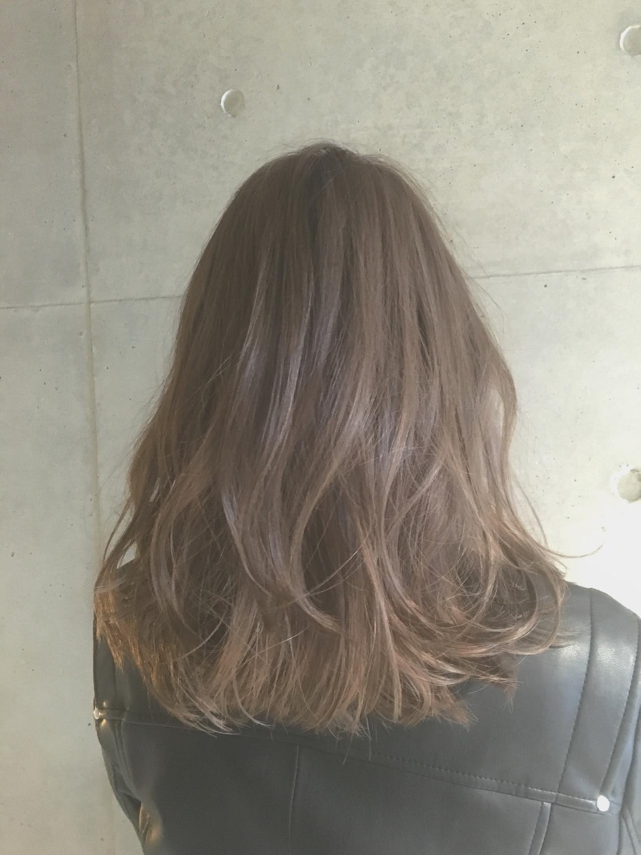 ミディアム ブラウン ナチュラル ゆるふわ ヘアスタイルや髪型の写真・画像 | Sayaka / diptyMOILA