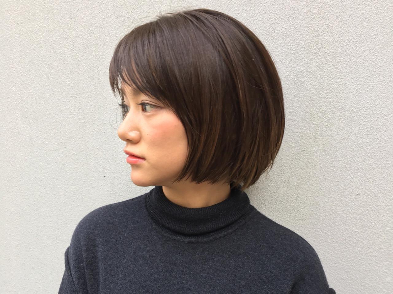 色気 ニュアンス フリンジバング ボブ ヘアスタイルや髪型の写真・画像 | スガ シュンスケ / Tierra (ティエラ)