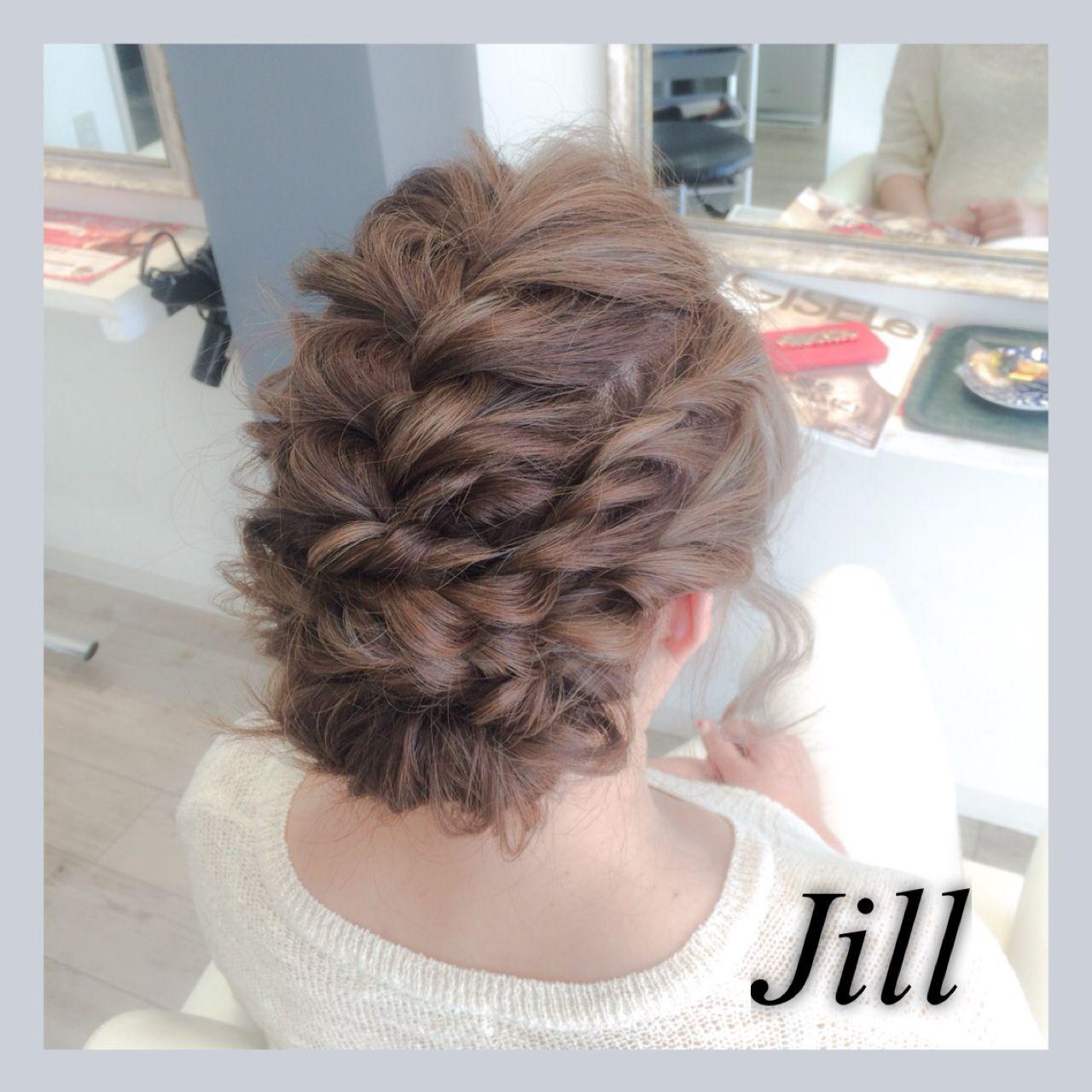 ショート ロープ編み コンサバ 簡単ヘアアレンジ ヘアスタイルや髪型の写真・画像   花房 佑典 / Jill / Hair Design Jill