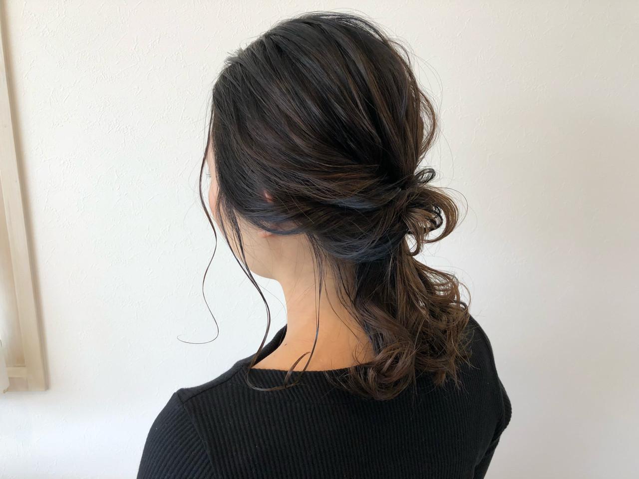 簡単ヘアアレンジ ヘアアレンジ 抜け感 外国人風 ヘアスタイルや髪型の写真・画像 | 宇渡 裕一 / Lillie hair&spa