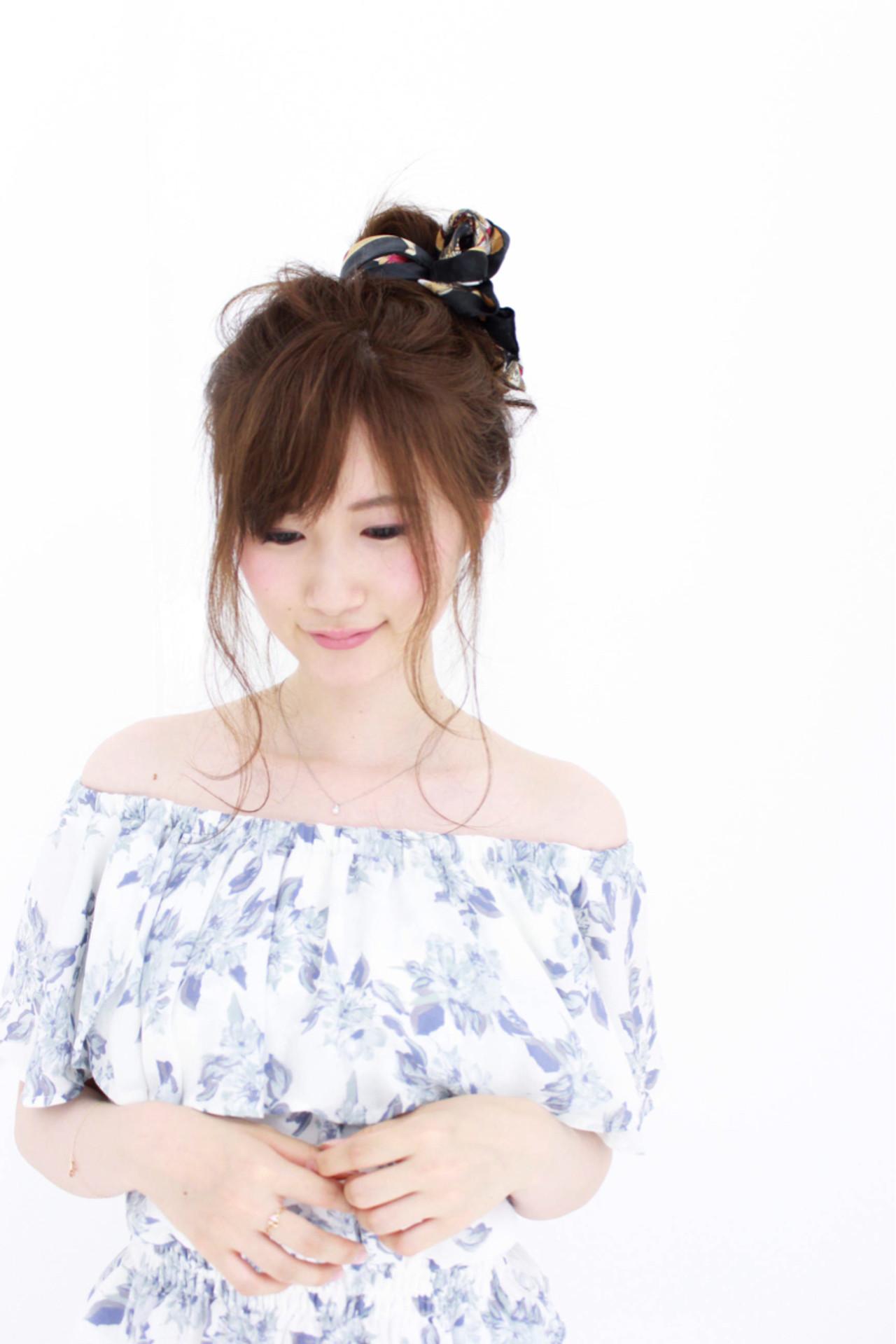 ゆるふわ メッシーバン ショート 簡単ヘアアレンジ ヘアスタイルや髪型の写真・画像