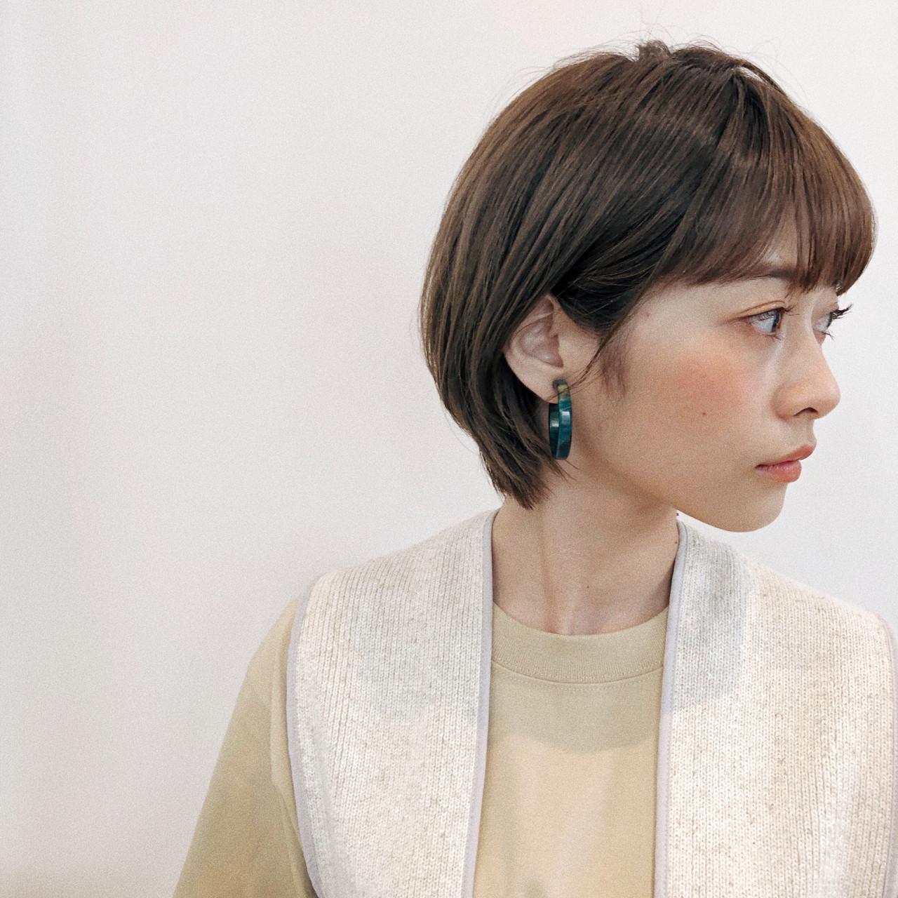 ナチュラル ボブ ヘアスタイルや髪型の写真・画像 | joemi 大久保 瞳 / Joemi by Un ami(ジョエミ バイ アンアミ)