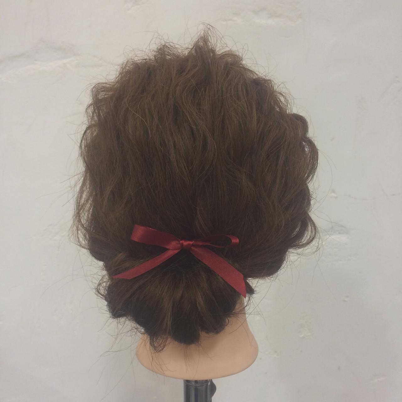 謝恩会 簡単ヘアアレンジ 結婚式 大人かわいい ヘアスタイルや髪型の写真・画像   yayoi / hair make beautiful