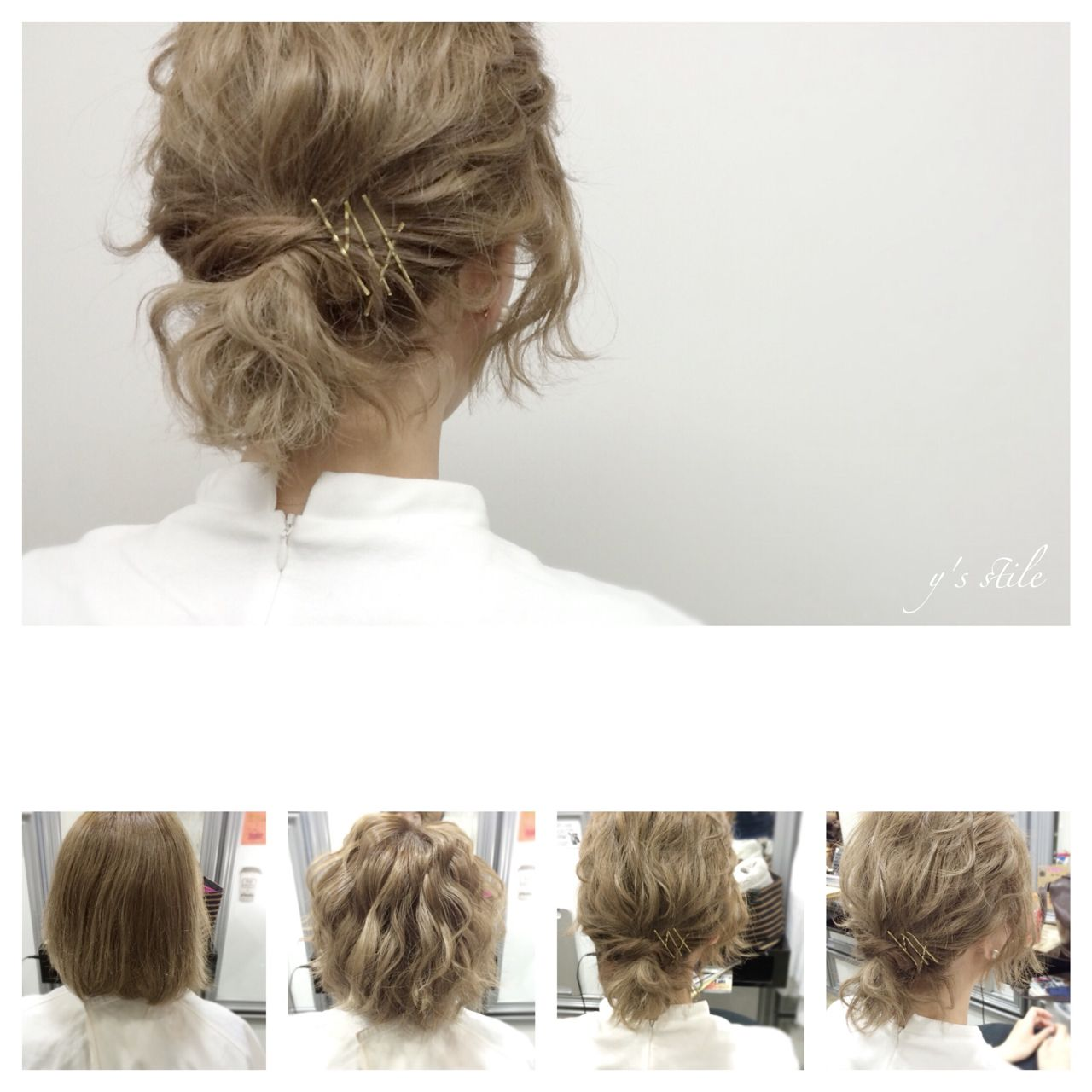 ボブ ストリート ヘアアレンジ 春 ヘアスタイルや髪型の写真・画像   YUJI / LIICHI / LIICHI (リイチ)