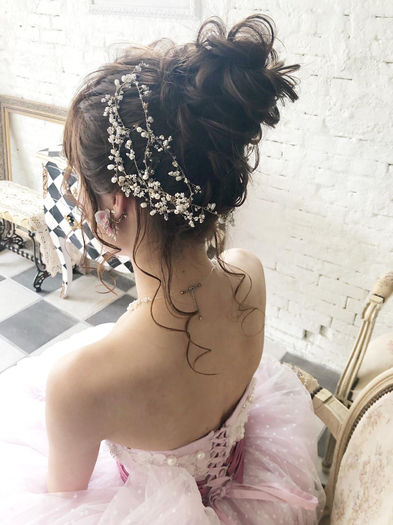 ロング 成人式 ヘアアレンジ 結婚式 ヘアスタイルや髪型の写真・画像 | Ryosuke Takaya / accorddoux