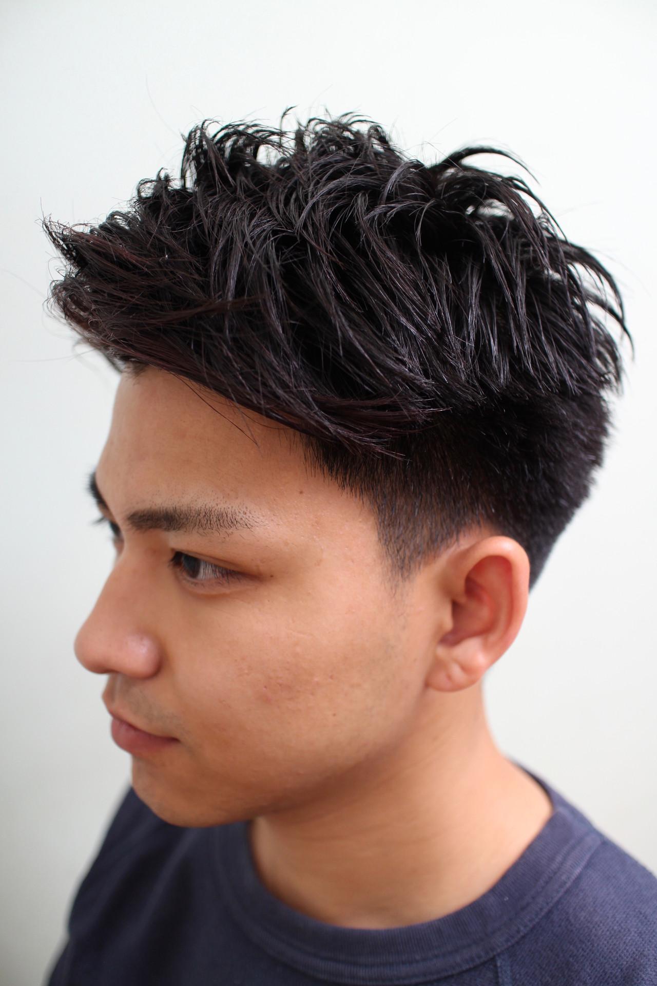 ショート ツーブロック ポイントカラー ストリート ヘアスタイルや髪型の写真・画像 | 勝永 智基 / BEAUTRIUM  265