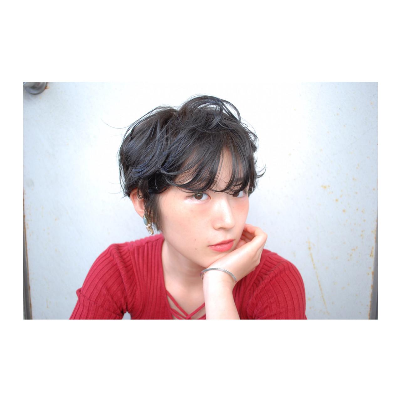 ナチュラル ショート ピュア 黒髪 ヘアスタイルや髪型の写真・画像
