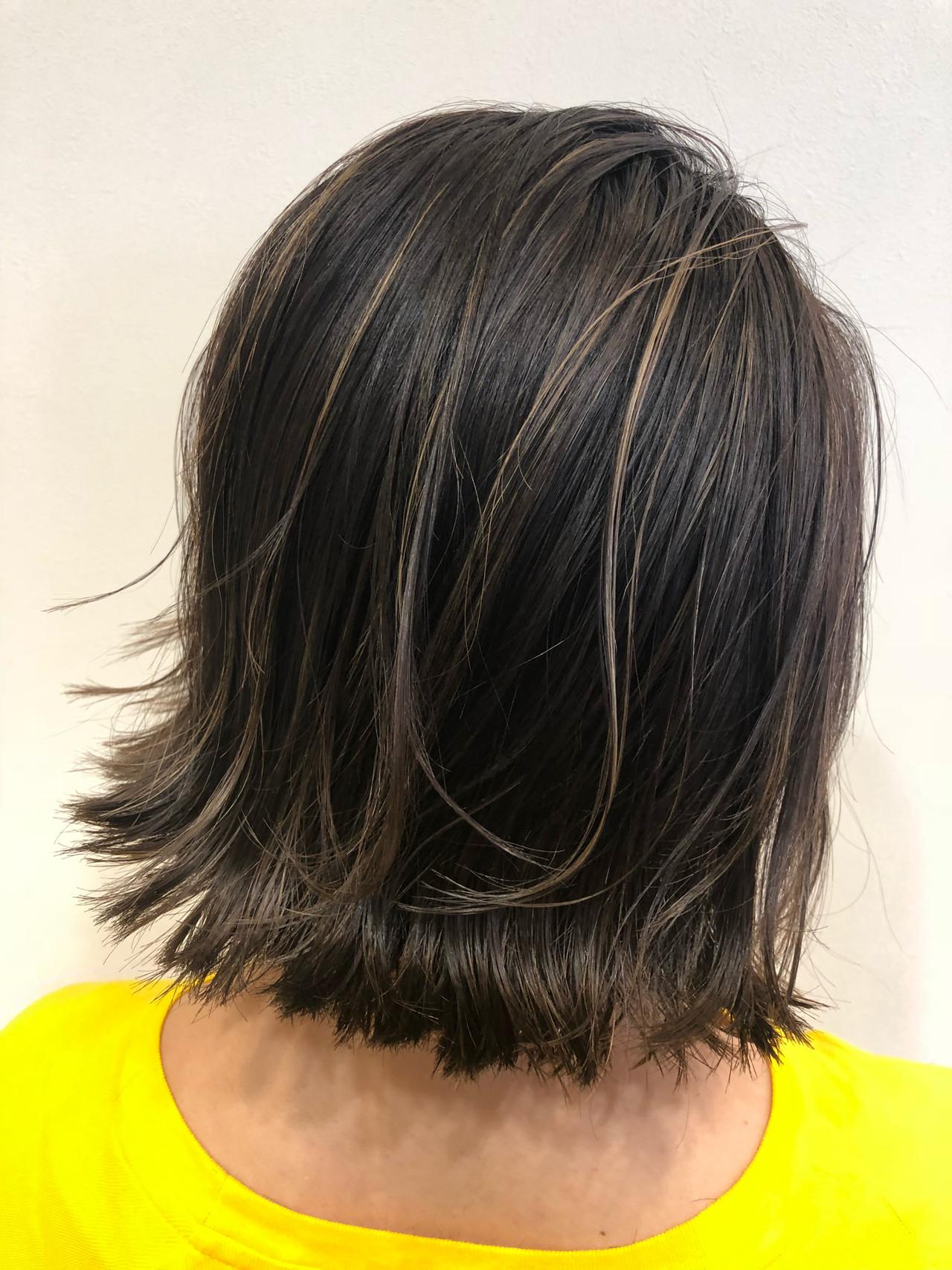ナチュラル オフィス 黒髪 スポーツ ヘアスタイルや髪型の写真・画像 | 中原英伸 / ブレス阿倍野