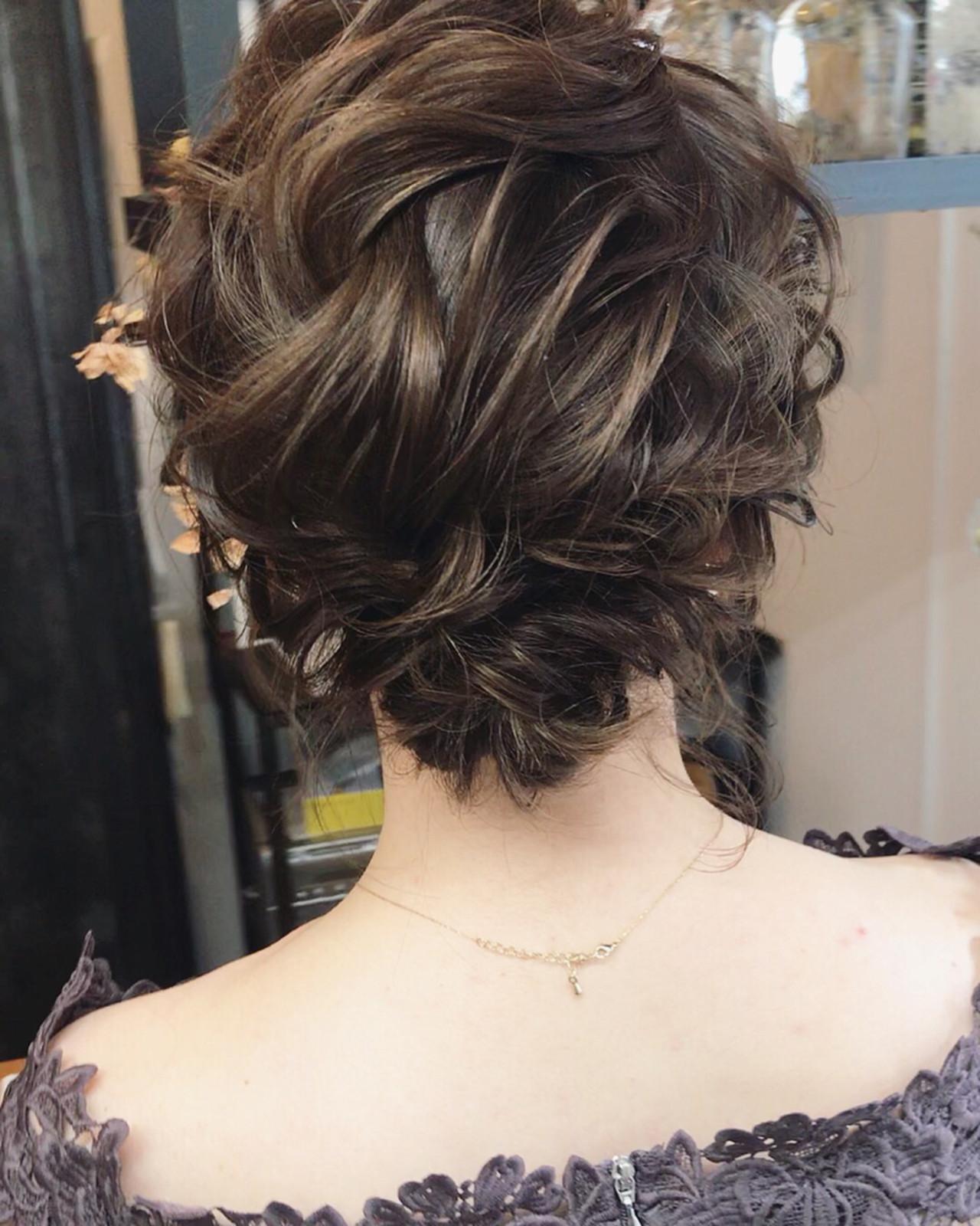 結婚式 外国人風 ヘアアレンジ フェミニン ヘアスタイルや髪型の写真・画像 | 小林 明弘 / cyan