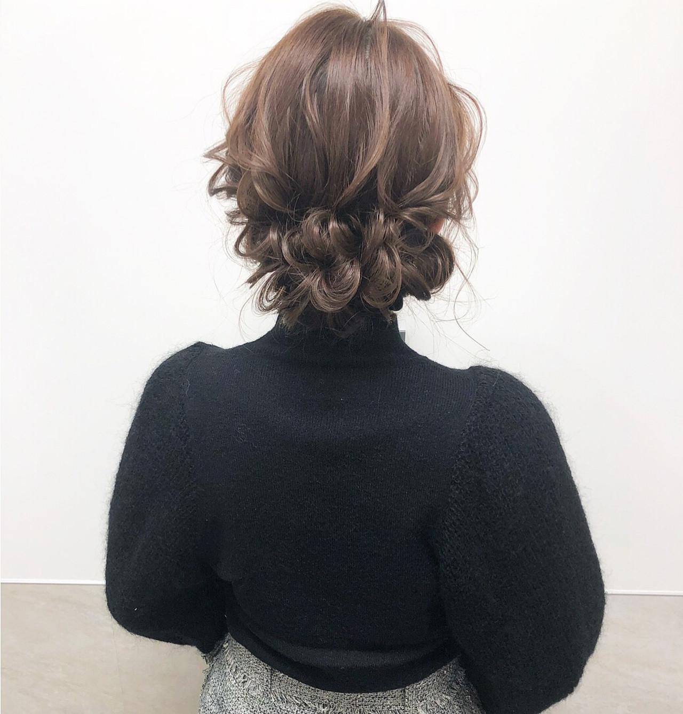 ヘアアレンジ ナチュラル 大人可愛い セミロング ヘアスタイルや髪型の写真・画像