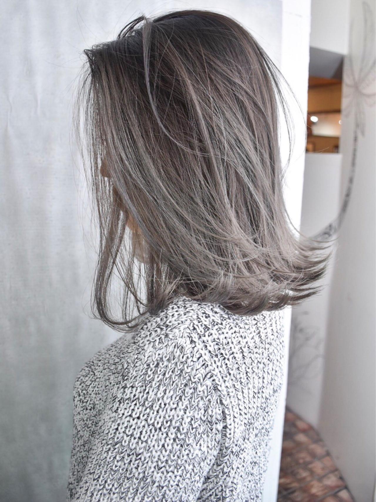 ミディアム 外国人風 外国人風カラー バレイヤージュ ヘアスタイルや髪型の写真・画像 | 池谷 翔平 / ANGELICA原宿