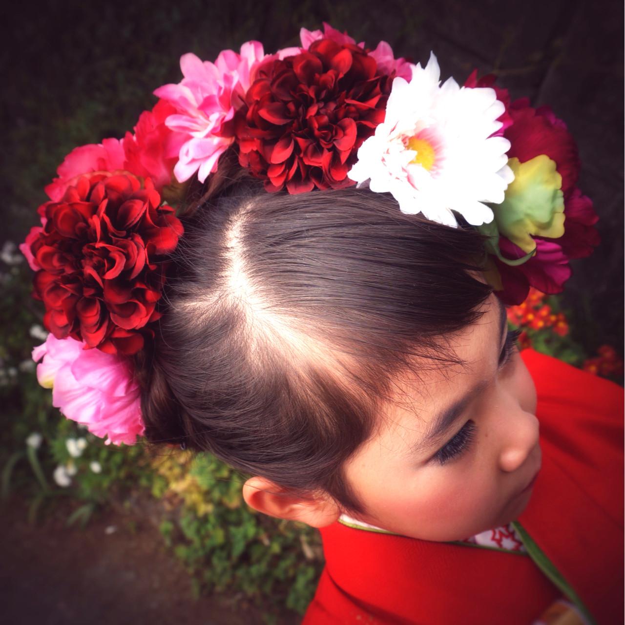 ロング アップスタイル 和装 ヘアアレンジ ヘアスタイルや髪型の写真・画像